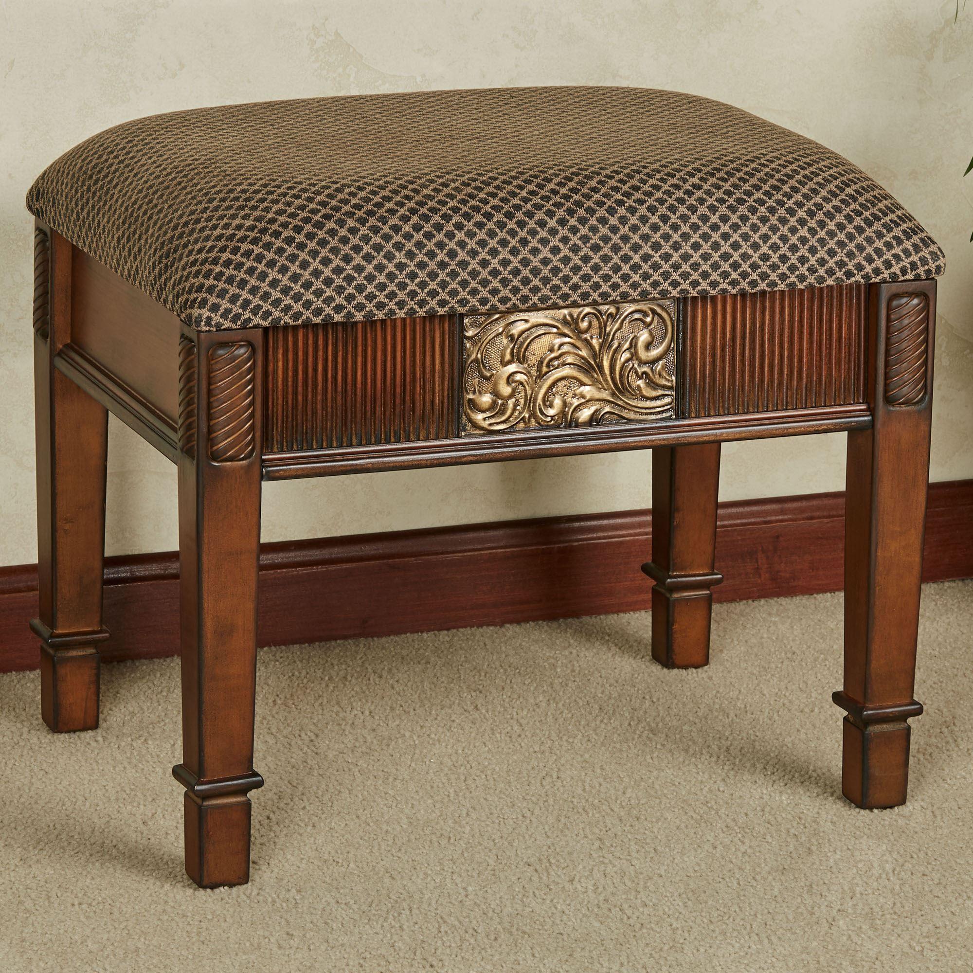 Pleasing Sarantino Vanity Bench Spiritservingveterans Wood Chair Design Ideas Spiritservingveteransorg
