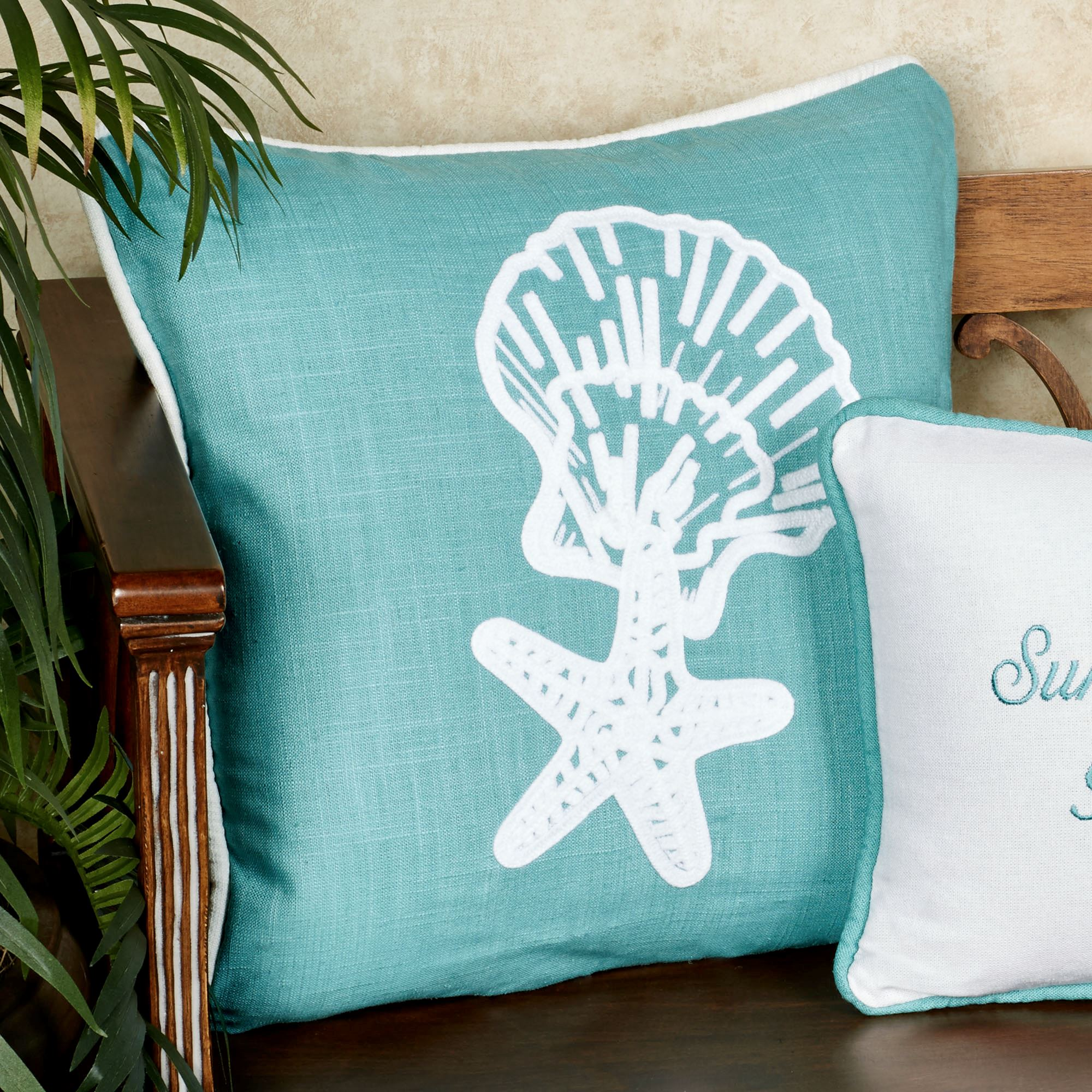 stitches turq outside pillow diy beach doodles pillows