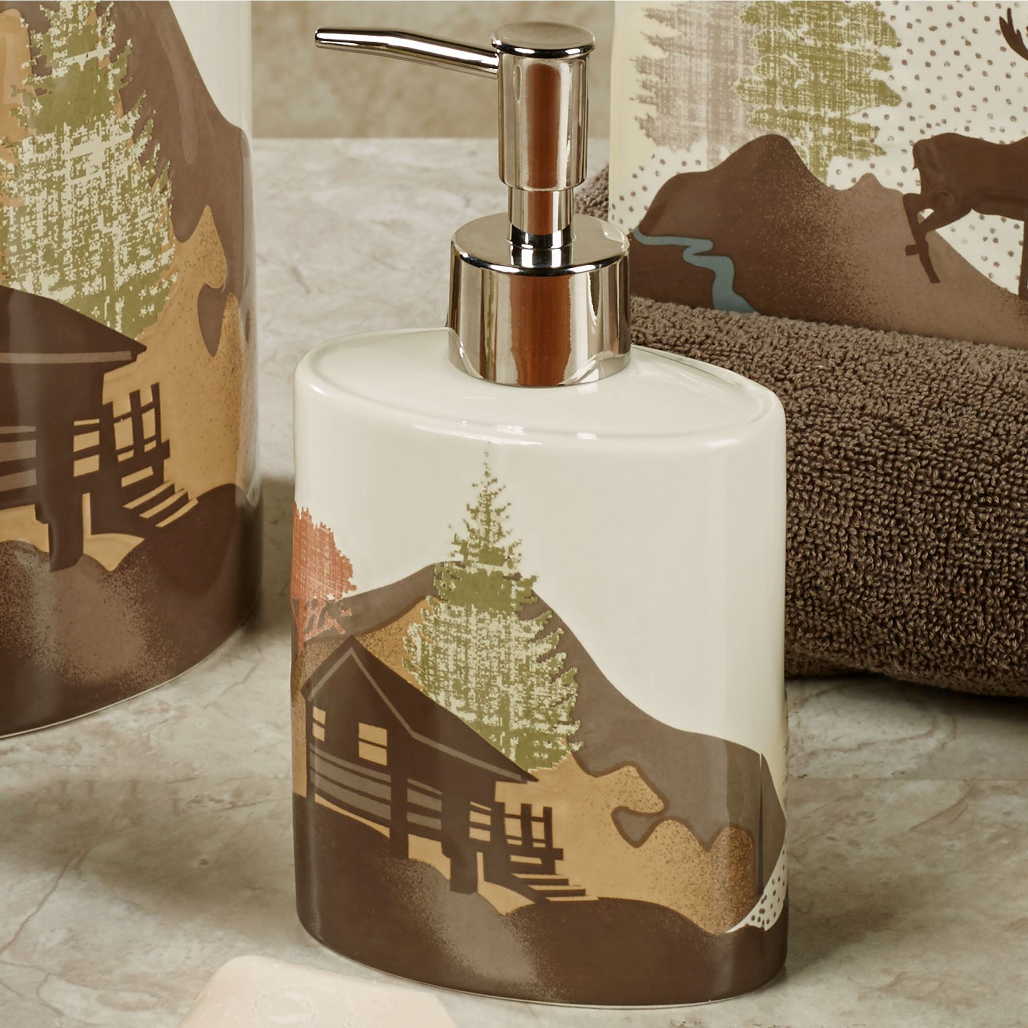 Mountain View Lotion Soap Dispenser Multi Warm
