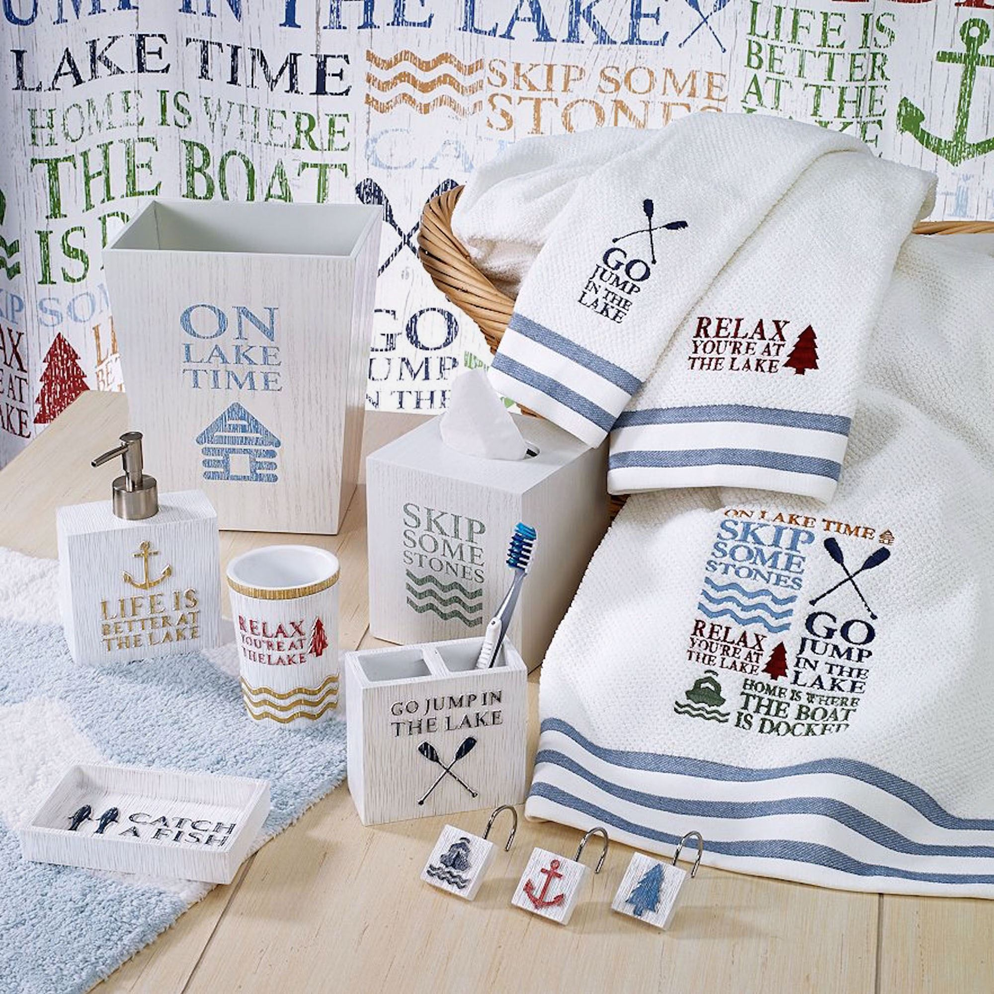 Lake Words Bath Accessories