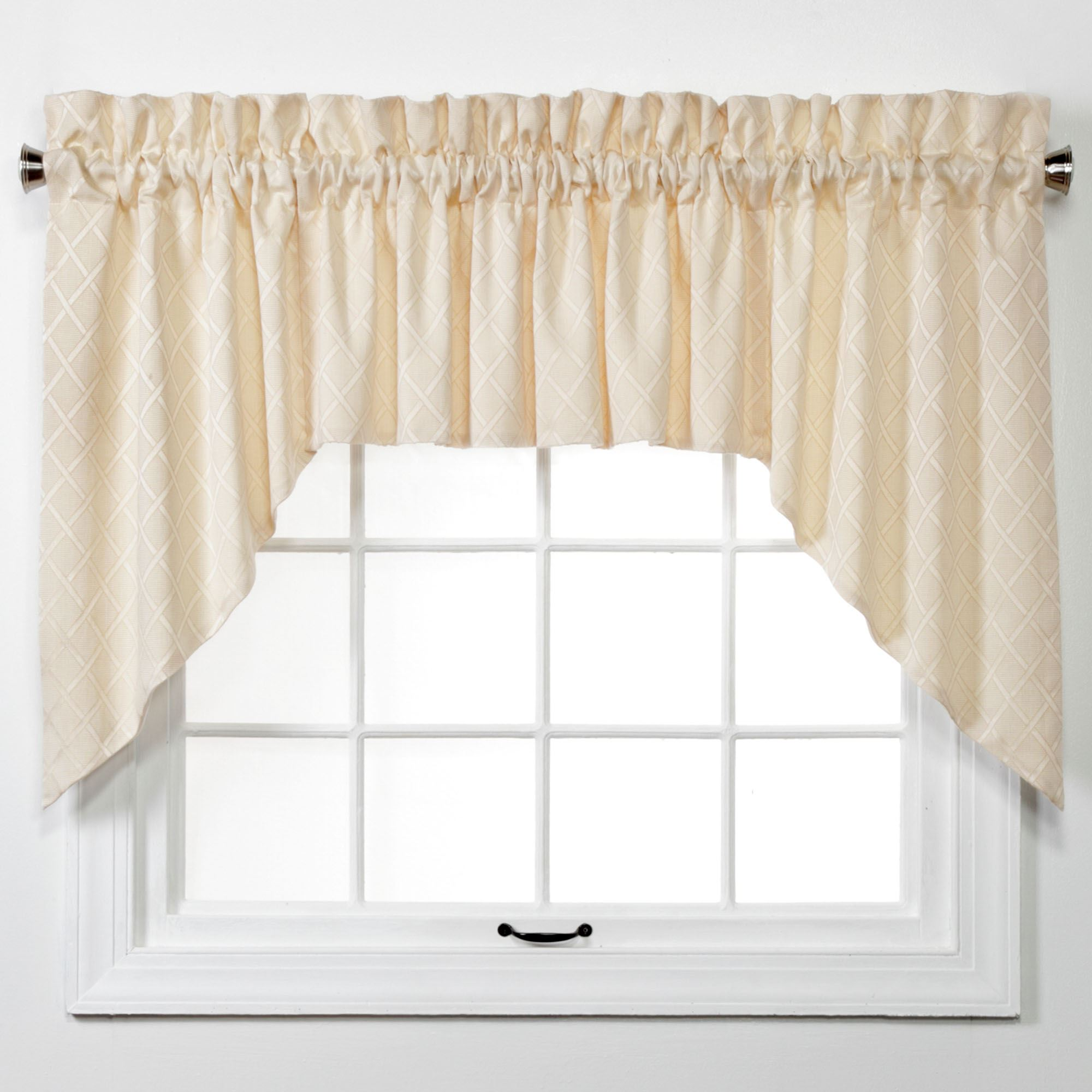 Baines Latticework 3 Pc Swag Valance Set