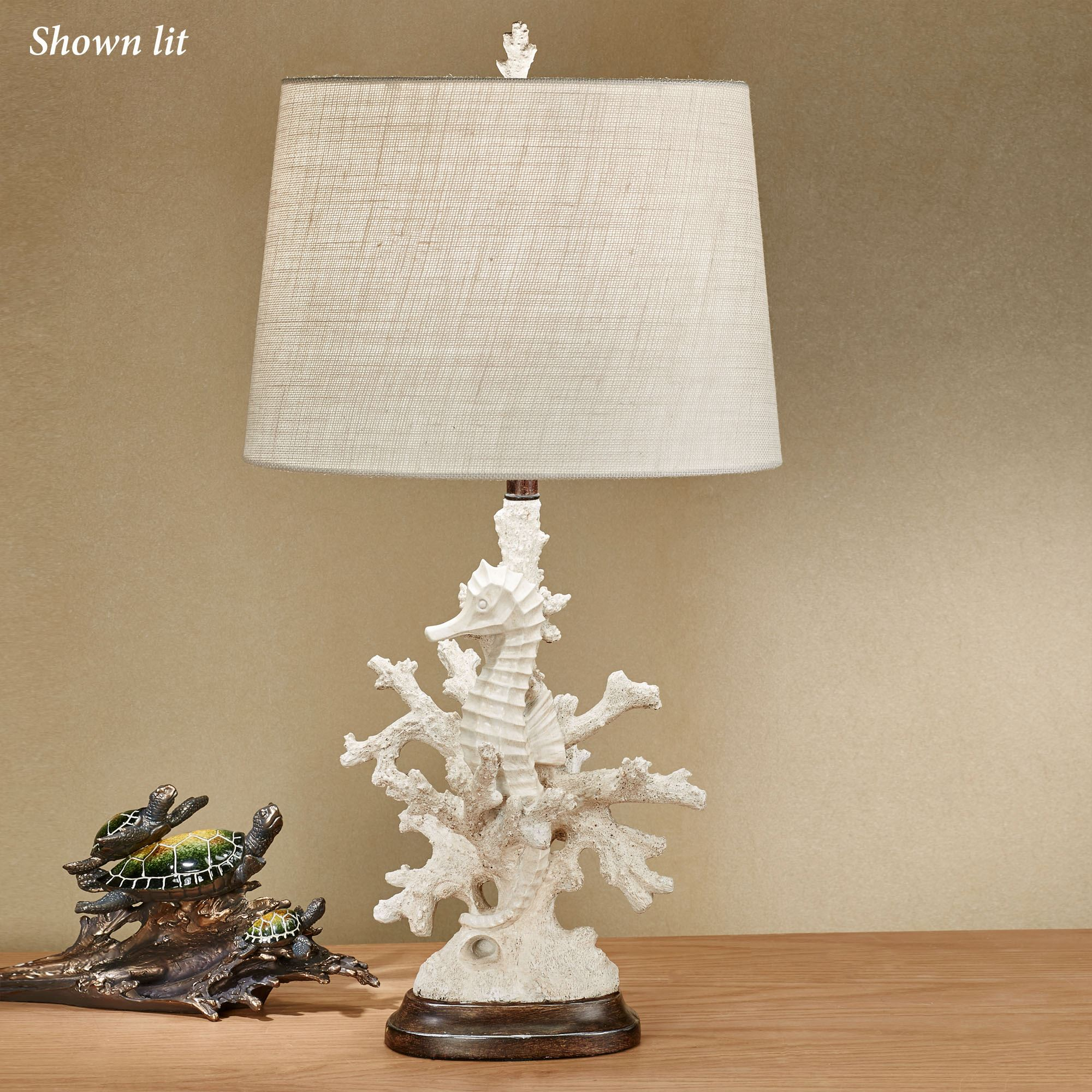 Seren Seahorse Coastal Table Lamp