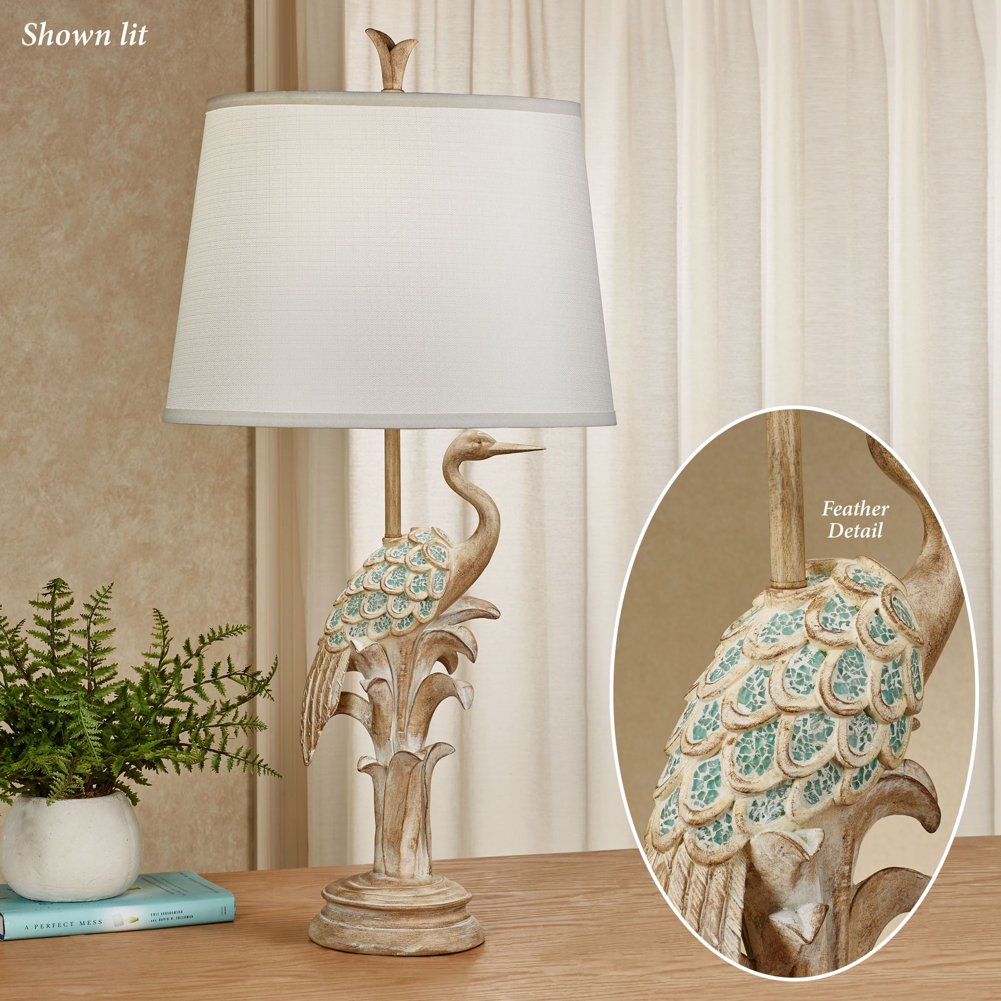 Hector The Heron Table Lamp Natural Touch To Zoom