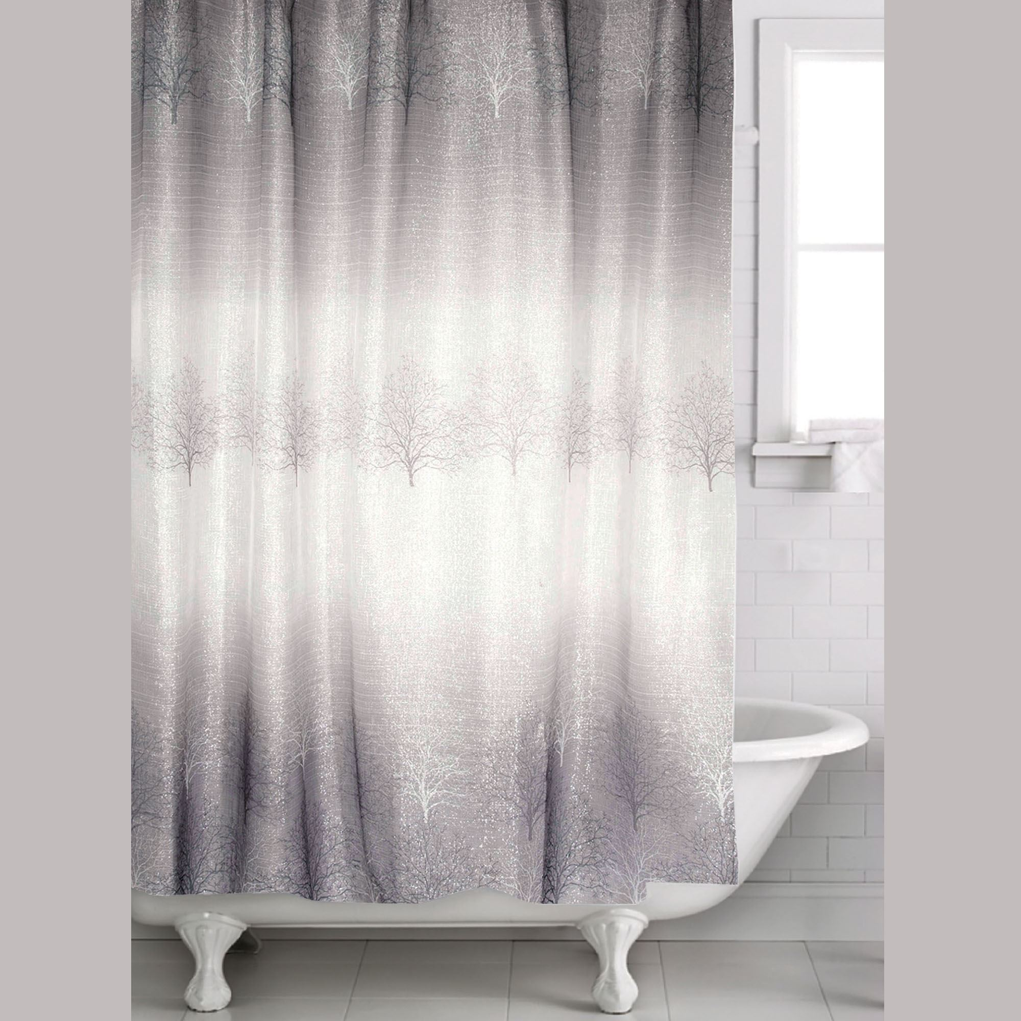 Spectrum Semi Sheer Shower Curtain Dark Gray 70 X 72