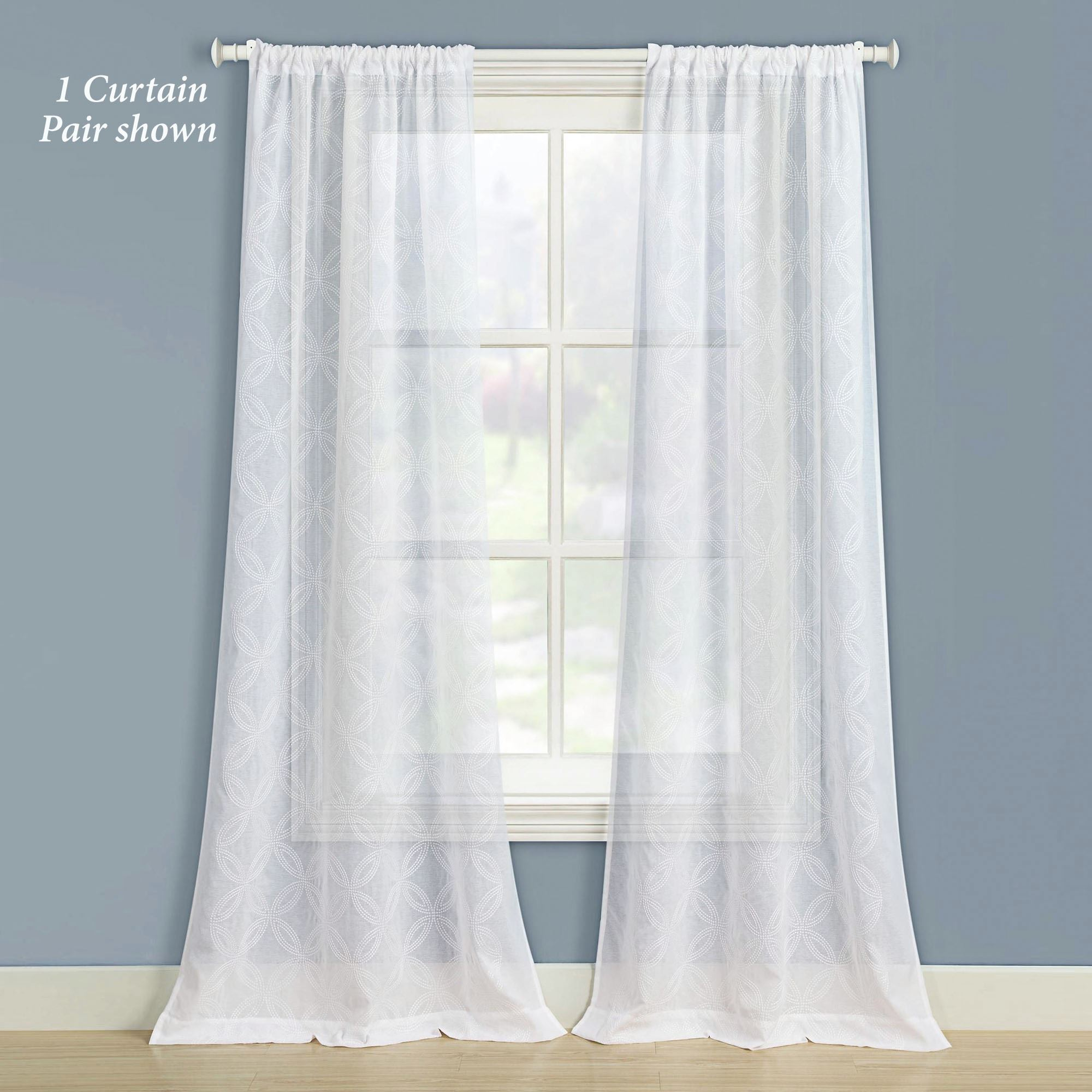 Chancery White Semi Sheer Curtains By Laura Ashley