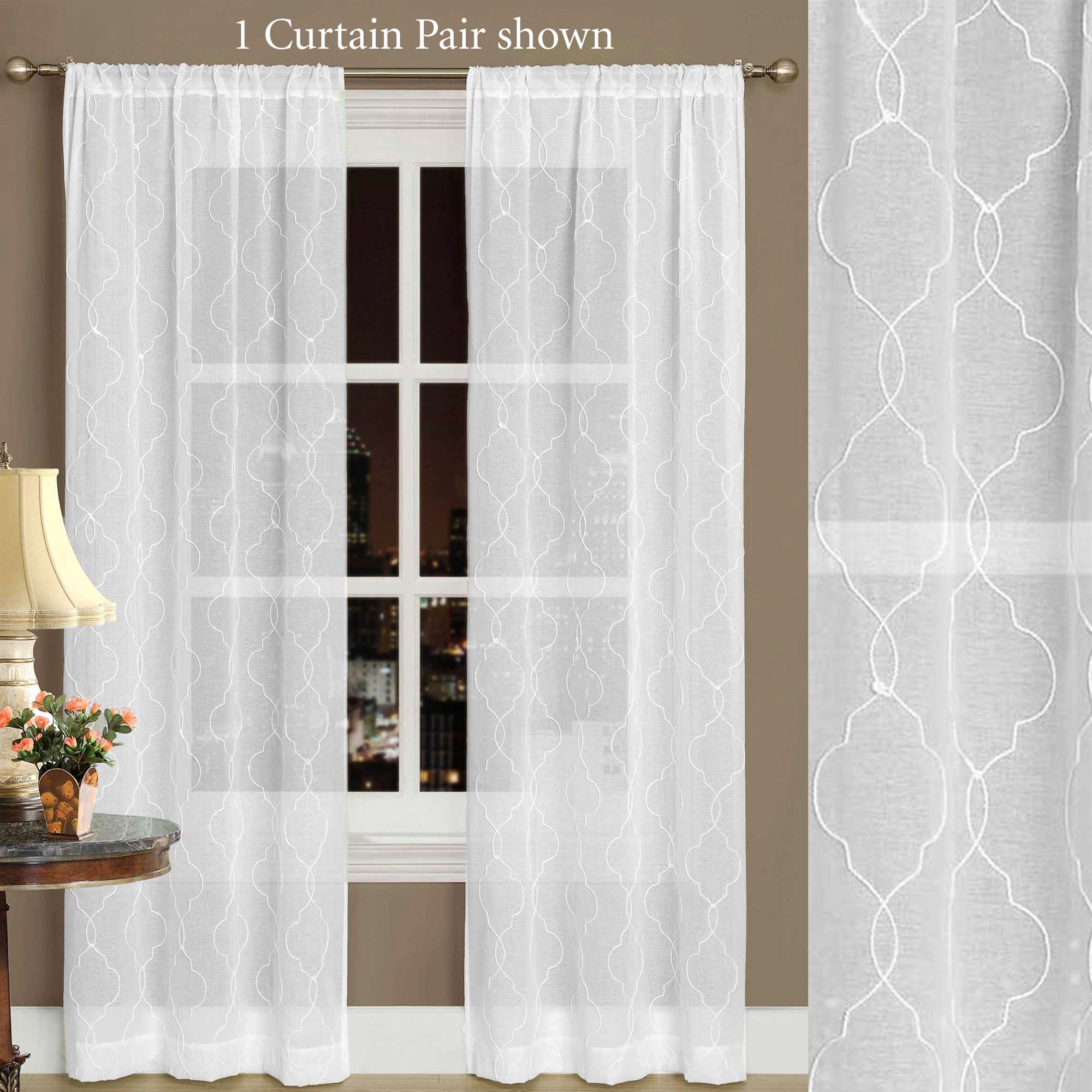 Audrey White Semi Sheer Curtains By Laura Ashley