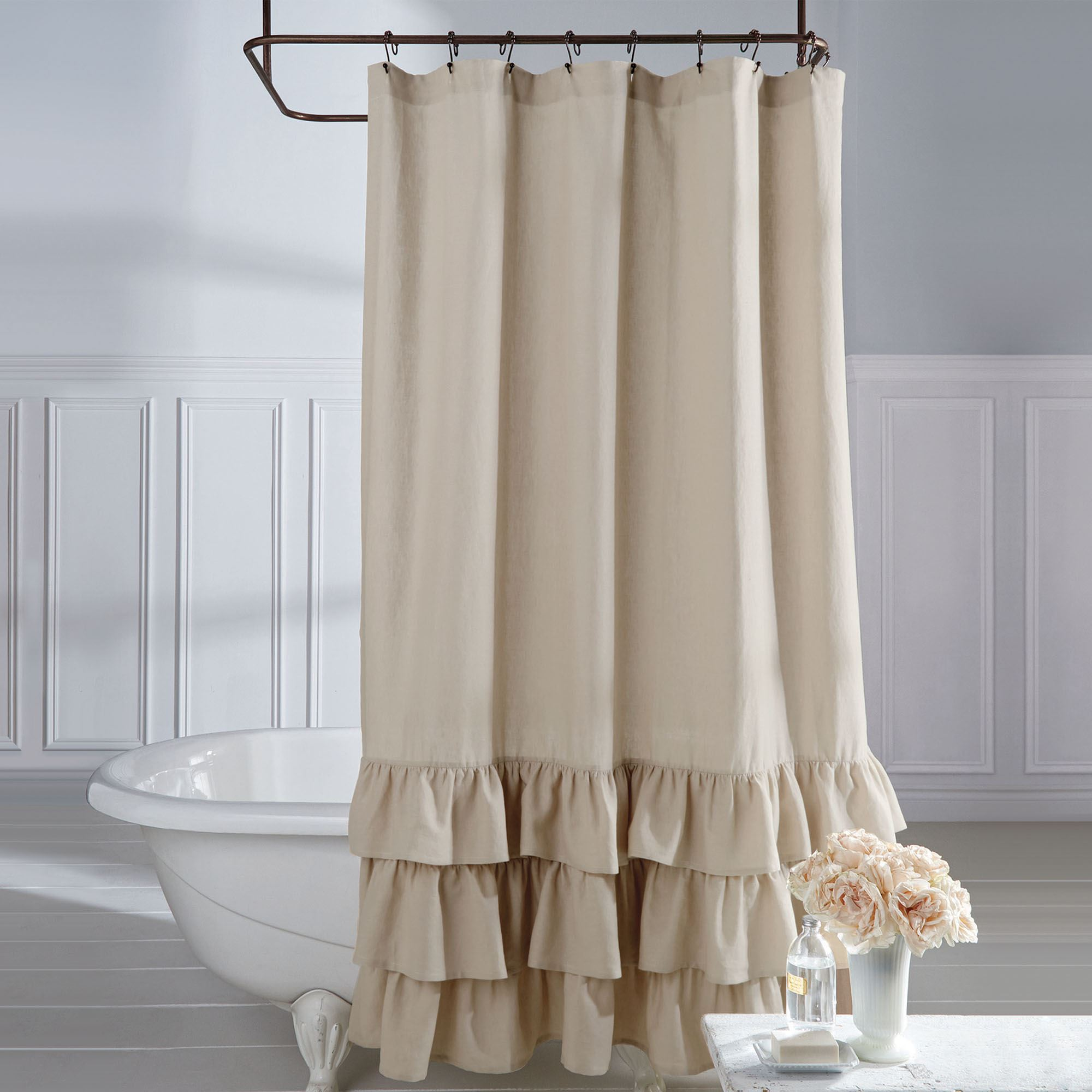 Bath Shower Curtains and Shower Curtain Hooks | Touch of Class