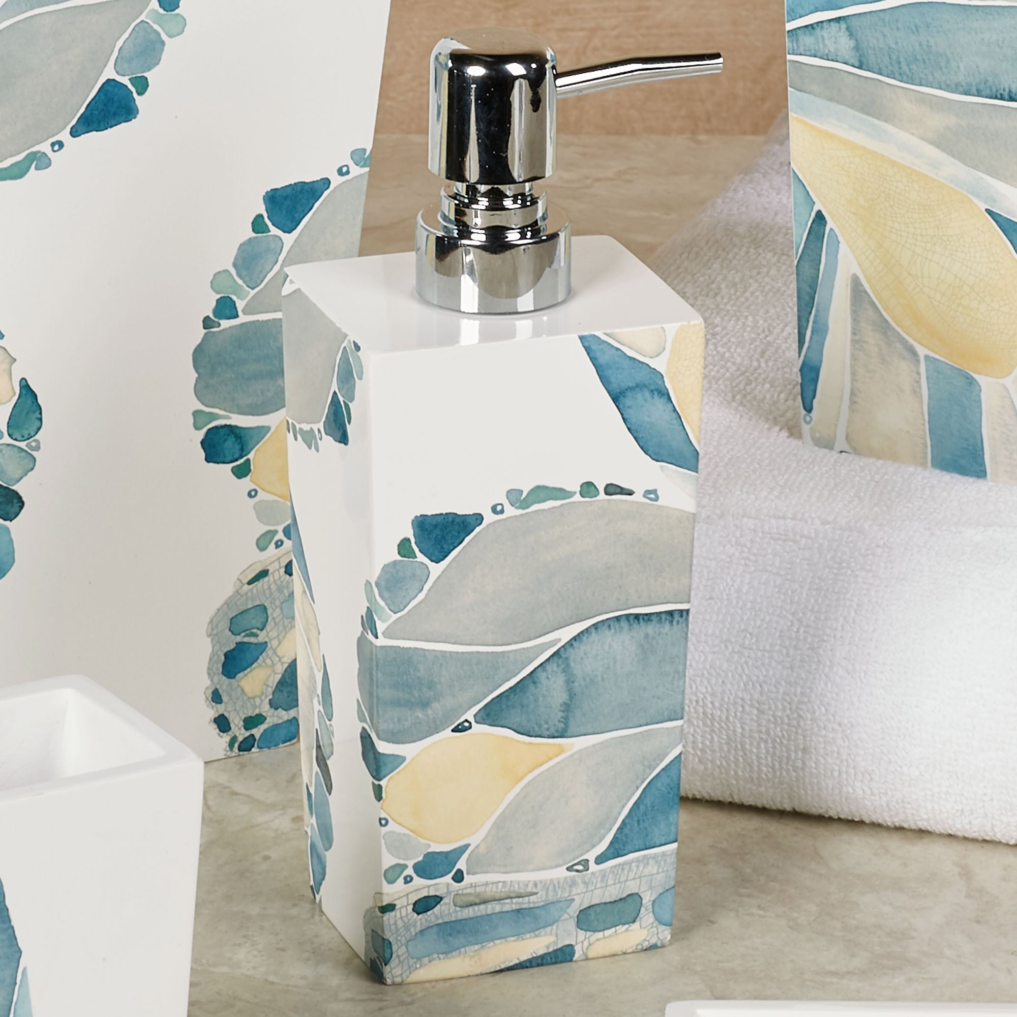 Butterfly Lotion Soap Dispenser Off White