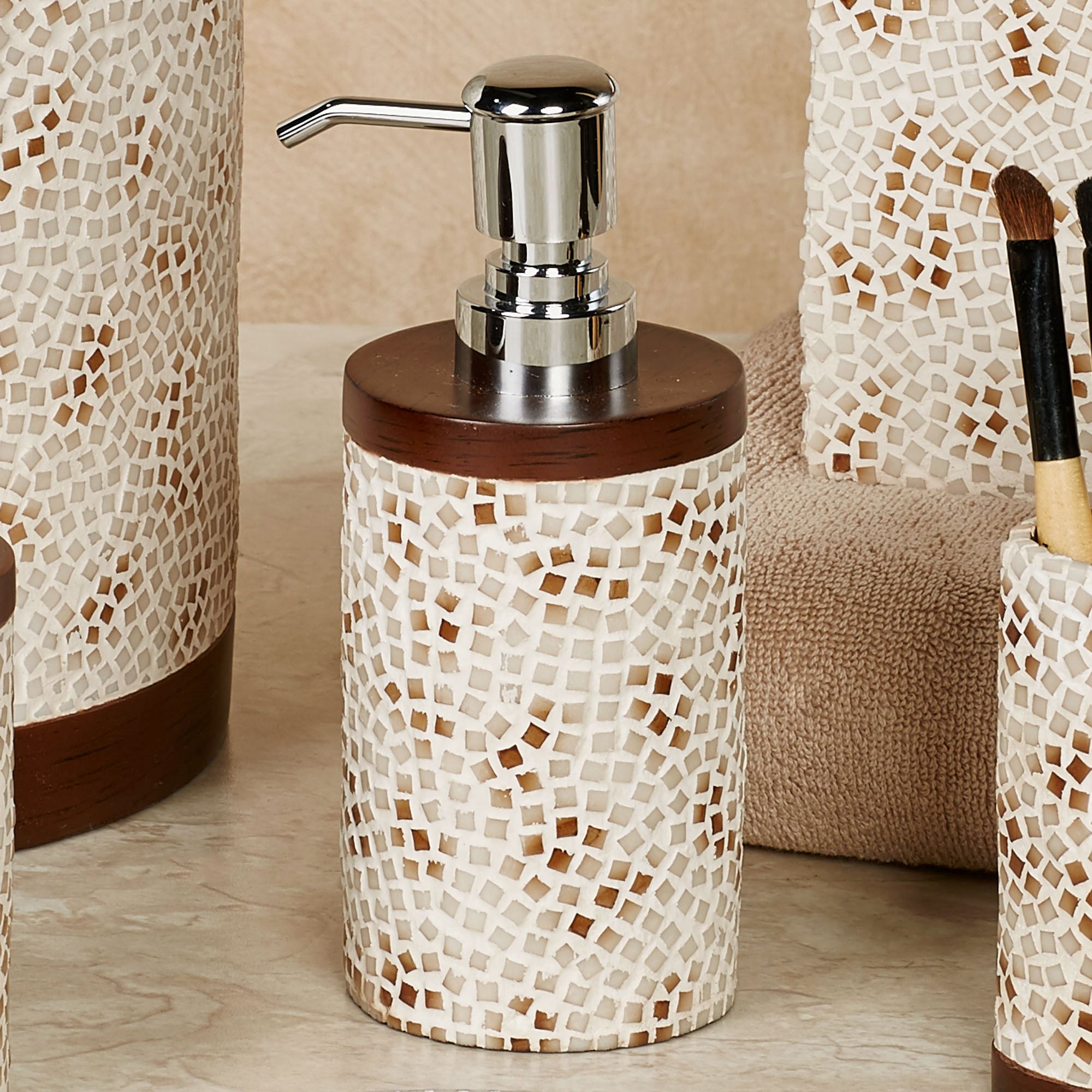 mini mosaic bath accessories by croscill