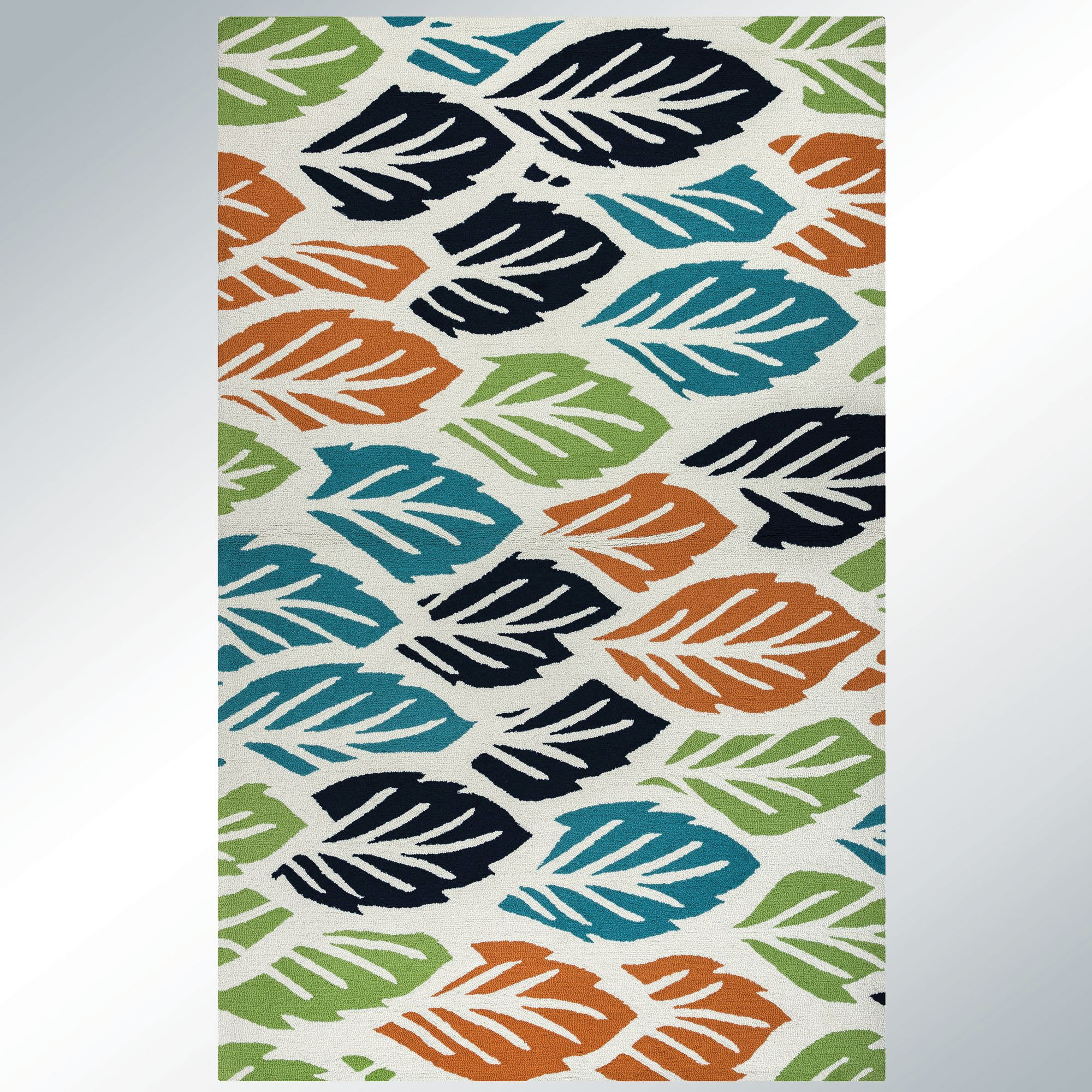 Leaflet Multi Bright Indoor Outdoor Rugs