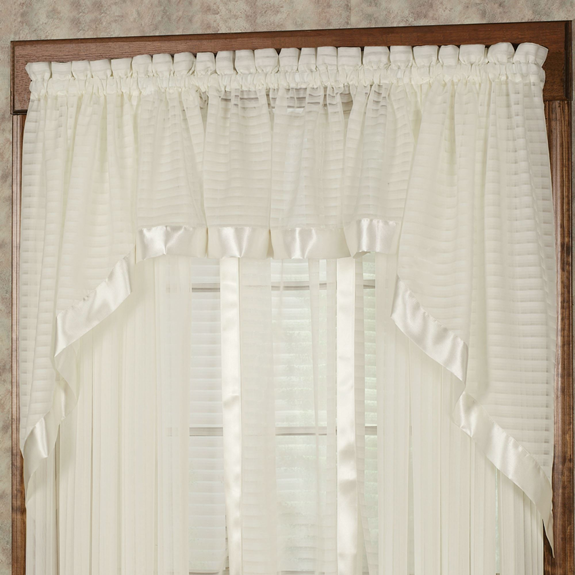Valances Window Treatments Nimbus Stripe Swag Valance Pair