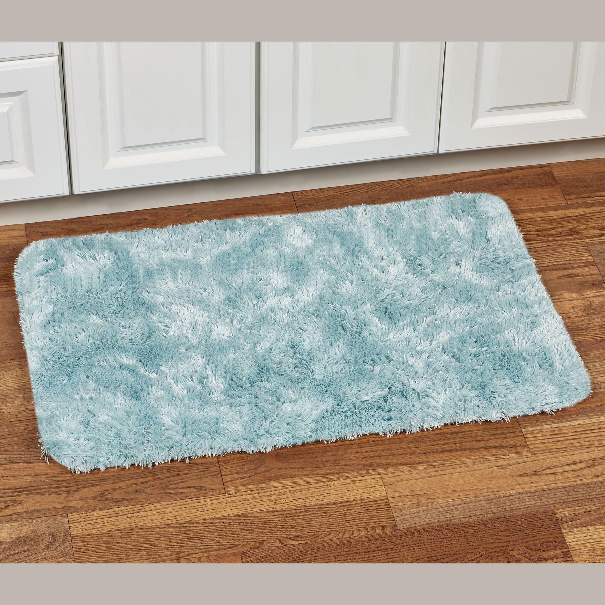 Super Soft Microfiber Faux Fur Bath Rugs