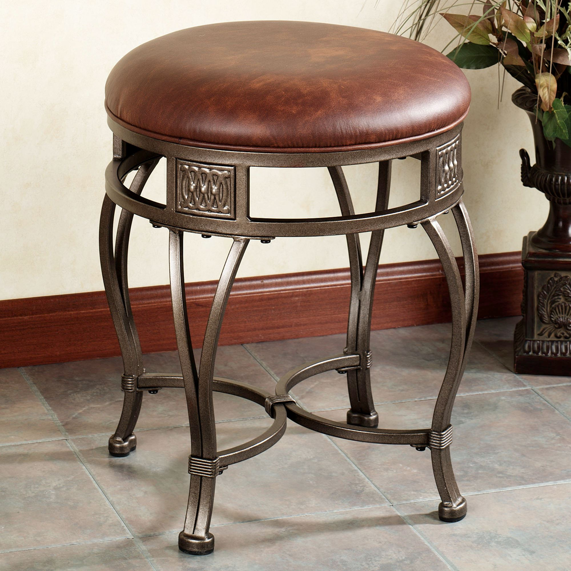 Mitchell Backless Vanity Stool. Click To Expand