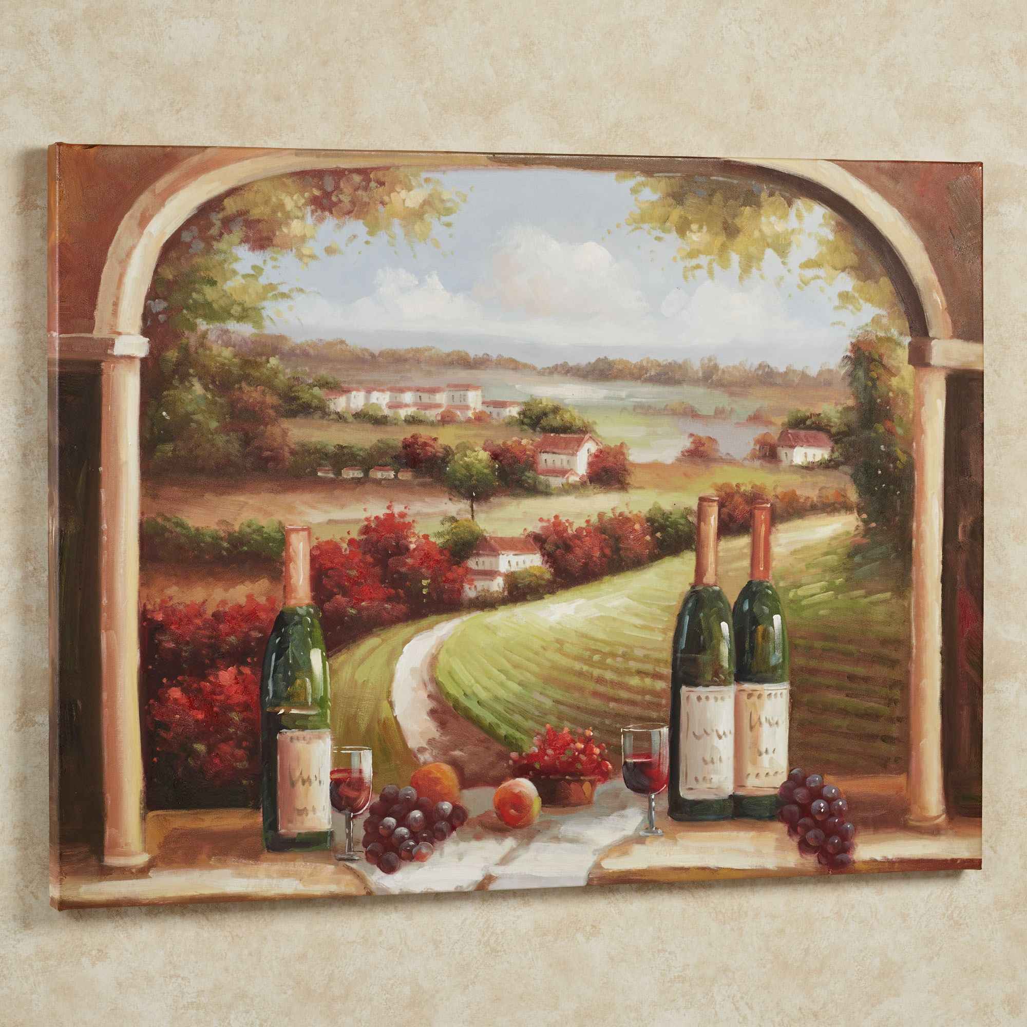 Picnic in sonoma canvas wall art for Wine and dine wall art