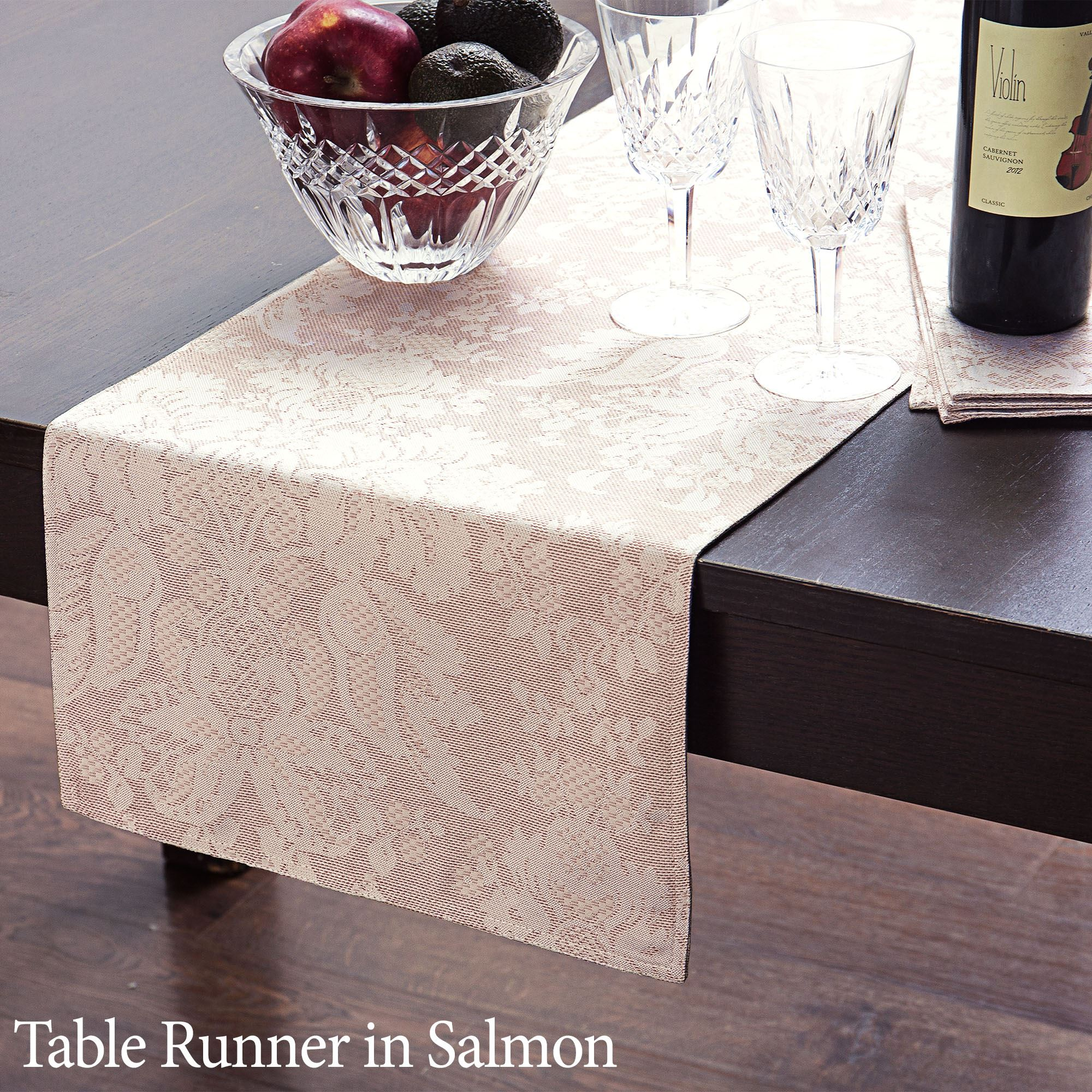 Berrigan Oblong Tablecloth & Berrigan Damask Table Linens by Waterford Linens