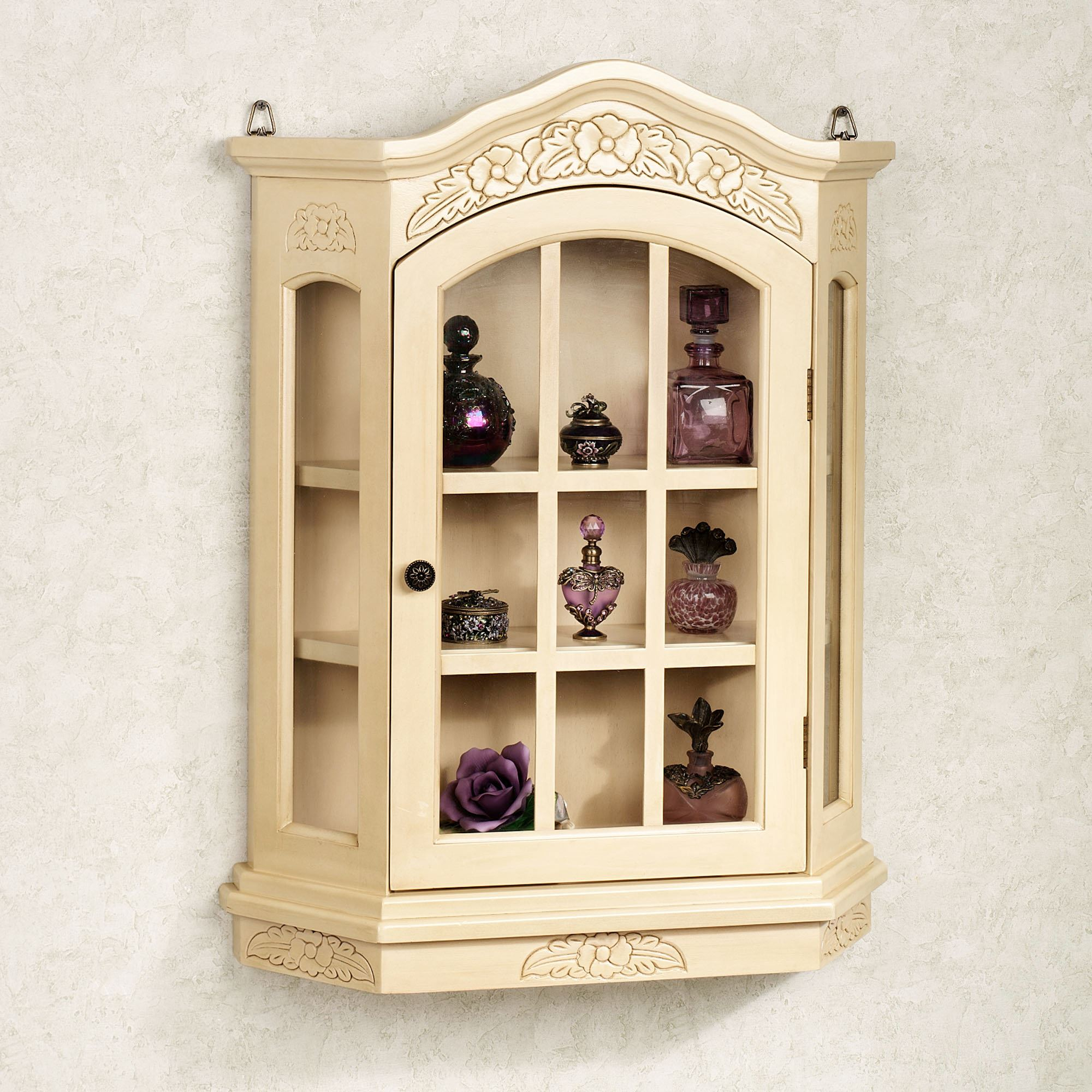 Viviana Wall Curio Cabinet Touch To Zoom