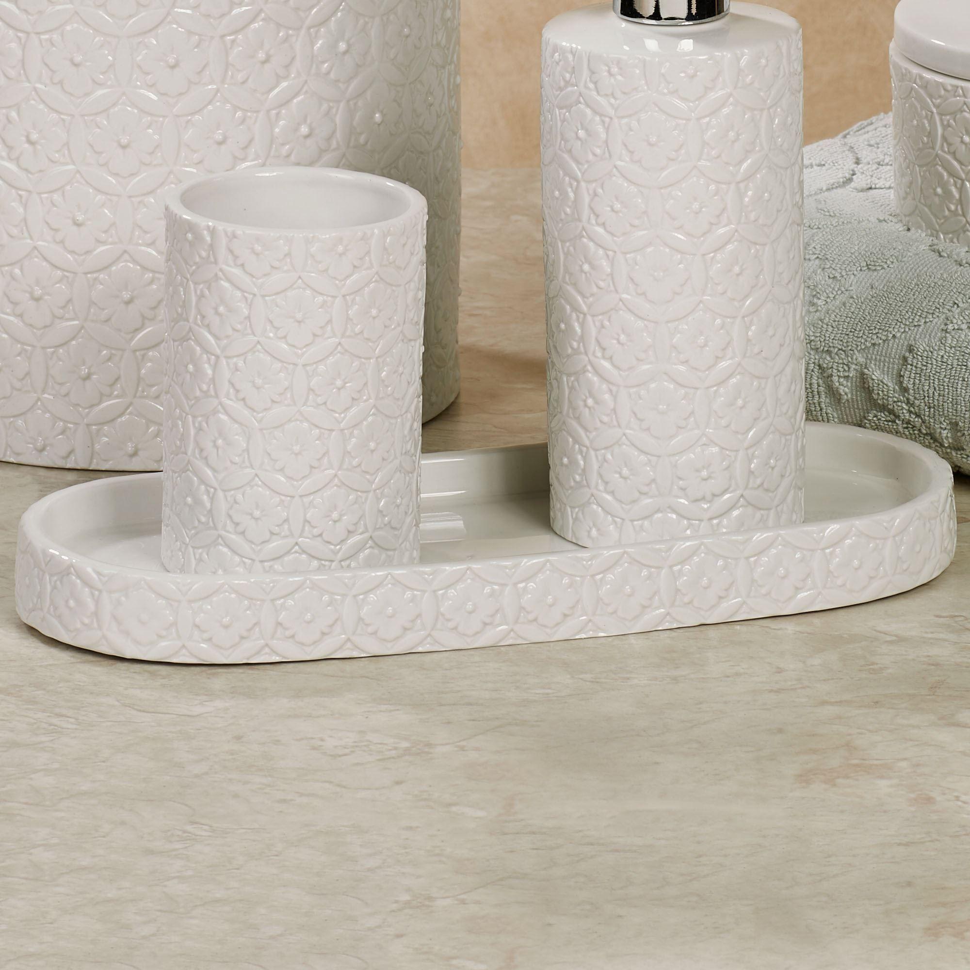 Perugia Vanity Tray Off White