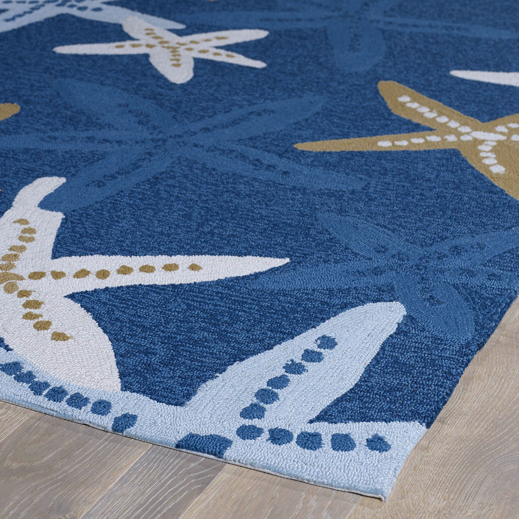 blau contemporary arrow doris new blue designed blucie down white tibetan nautical rugs rug by wool silk leslie