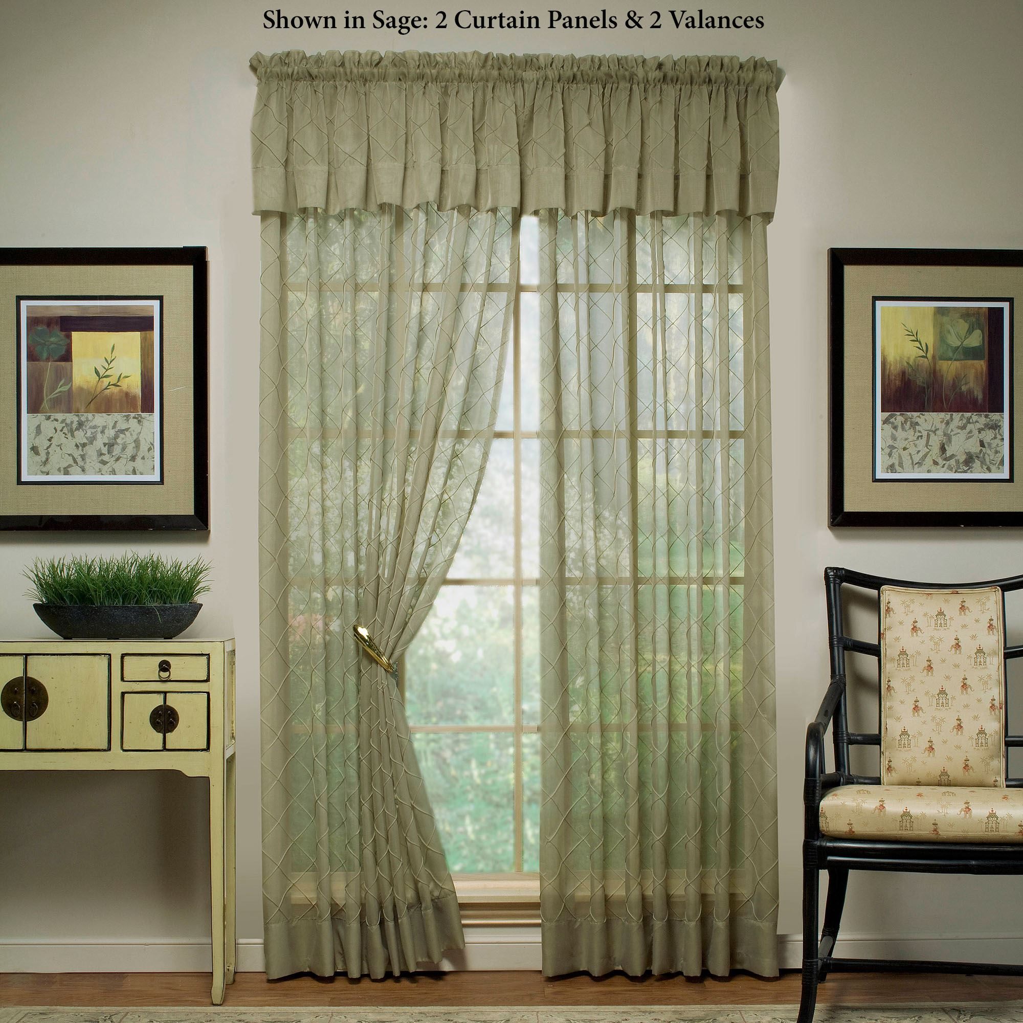 Sapphire Sheer Voile Window Treatment