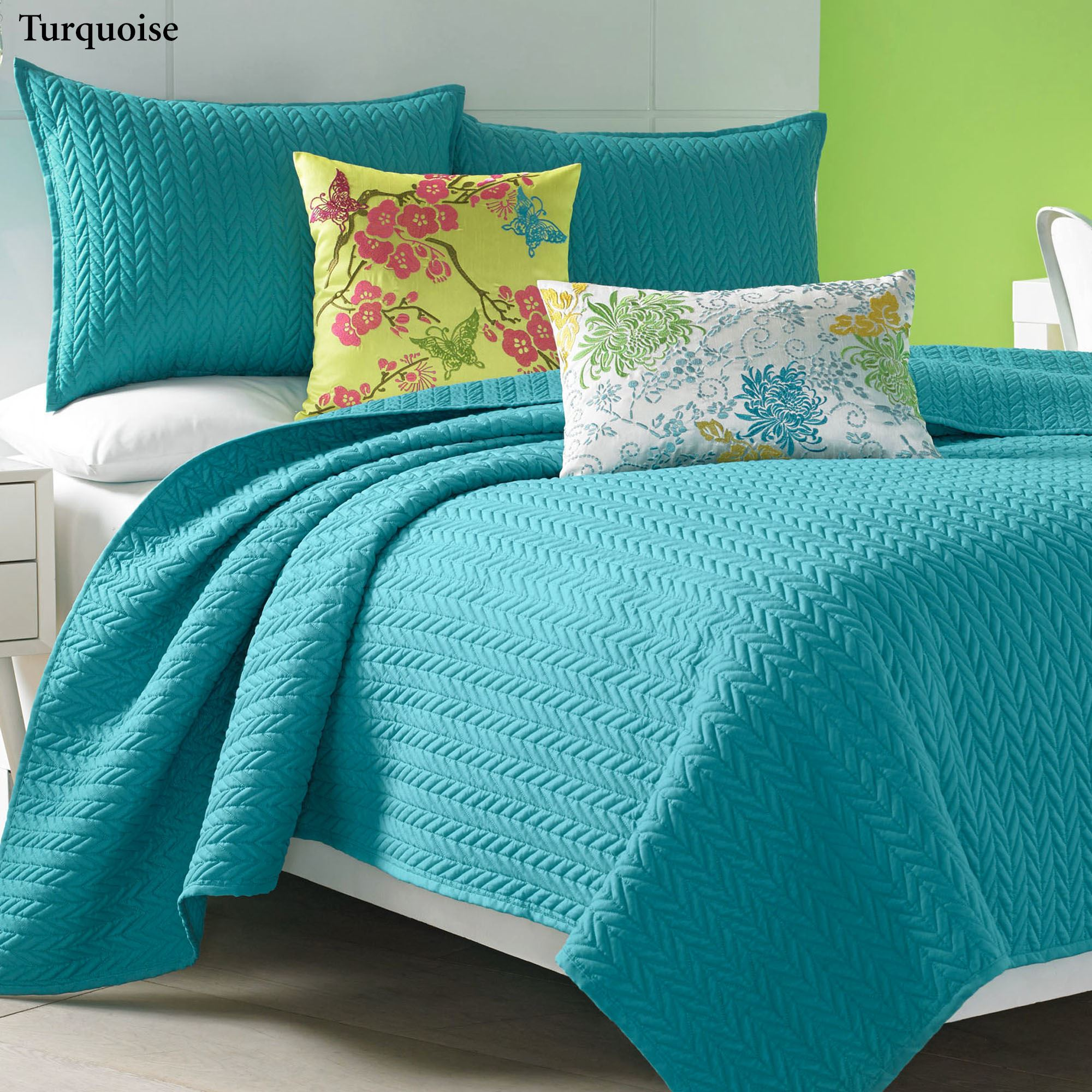 Camdyn Bright Solid Color Quilted Coverlet From J By J