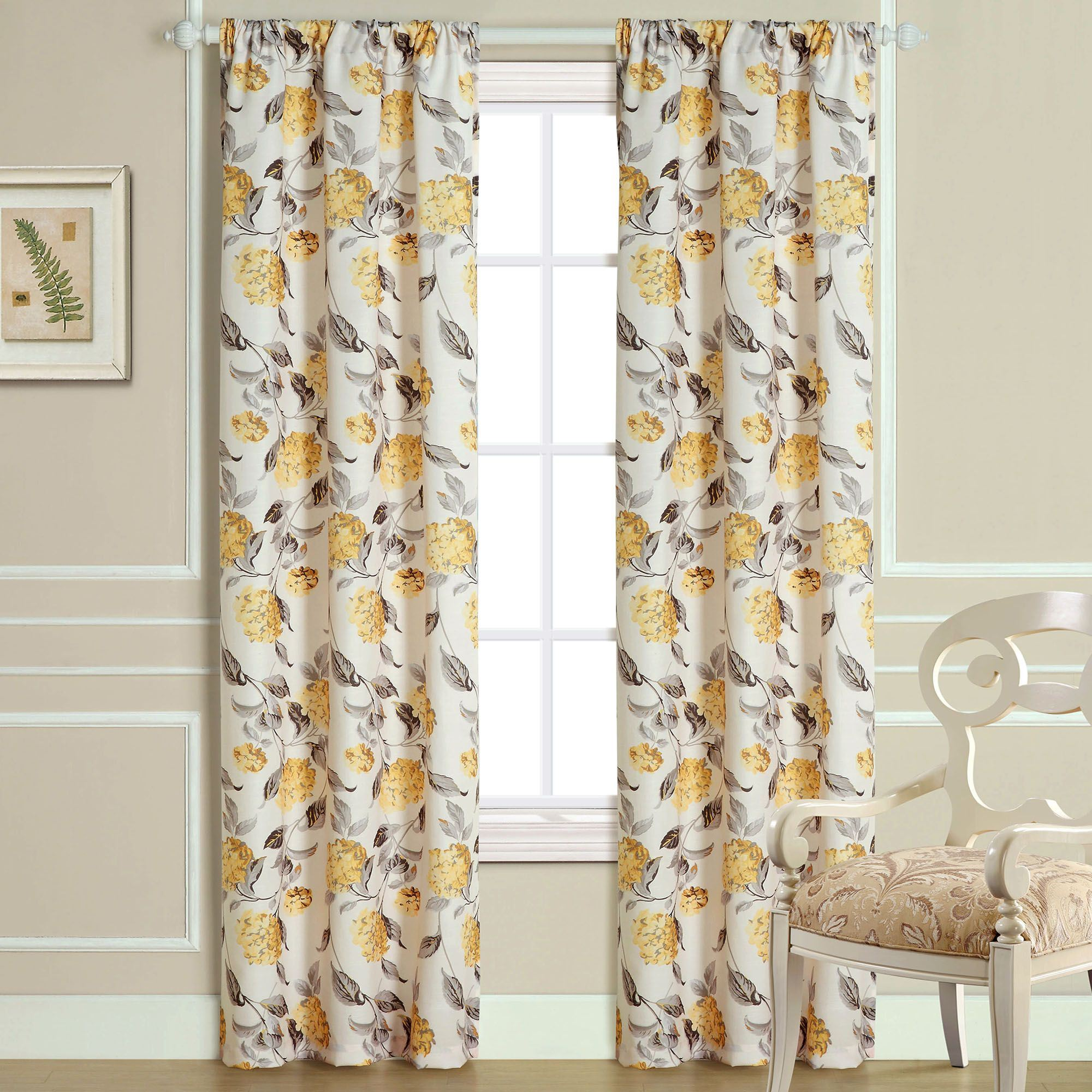 cute floral kids window bedroom sheer yellow printed patterned pastoral custom kitchen mustard curtains blackout cartoon