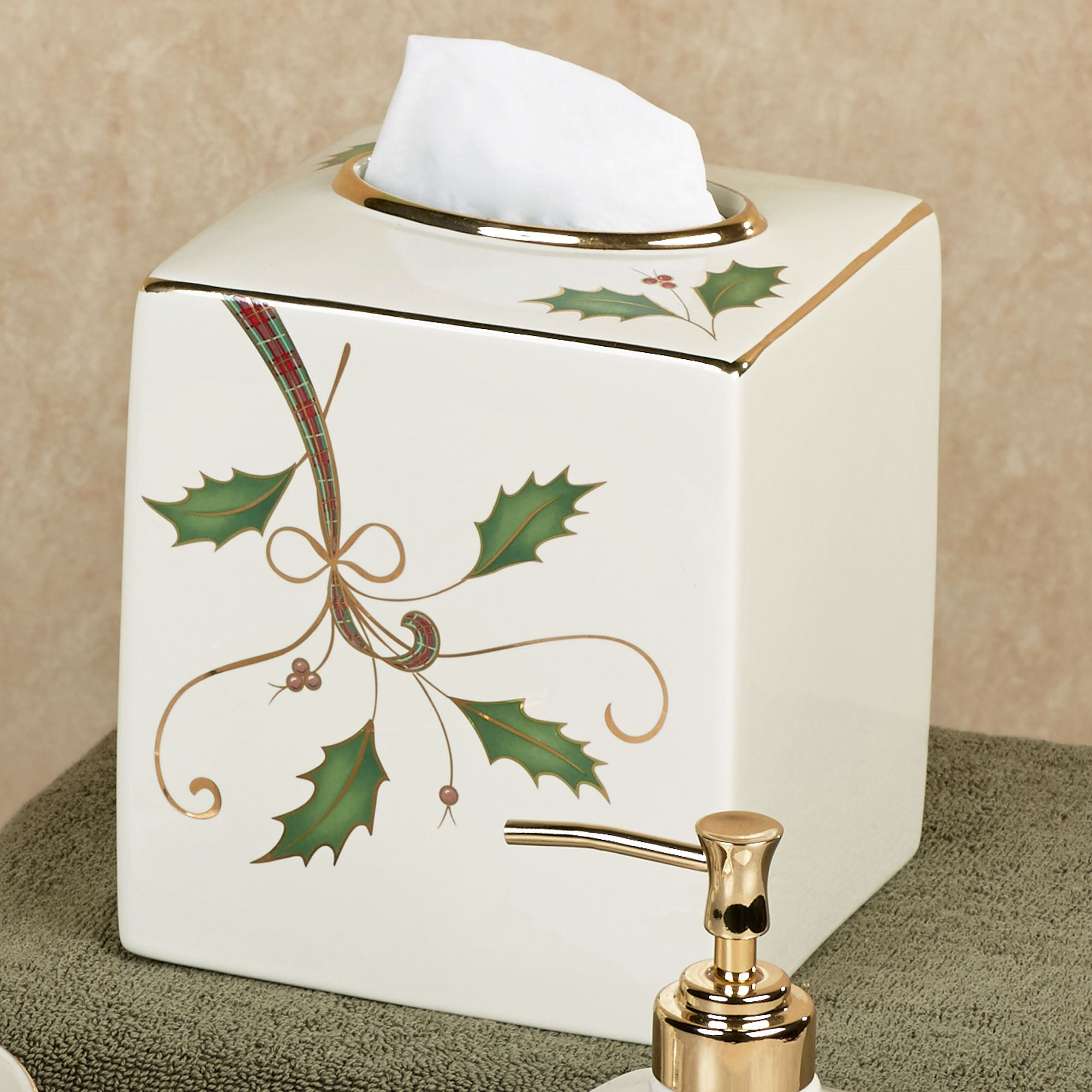 Lenox Holiday Nouveau Tissue Cover Ivory
