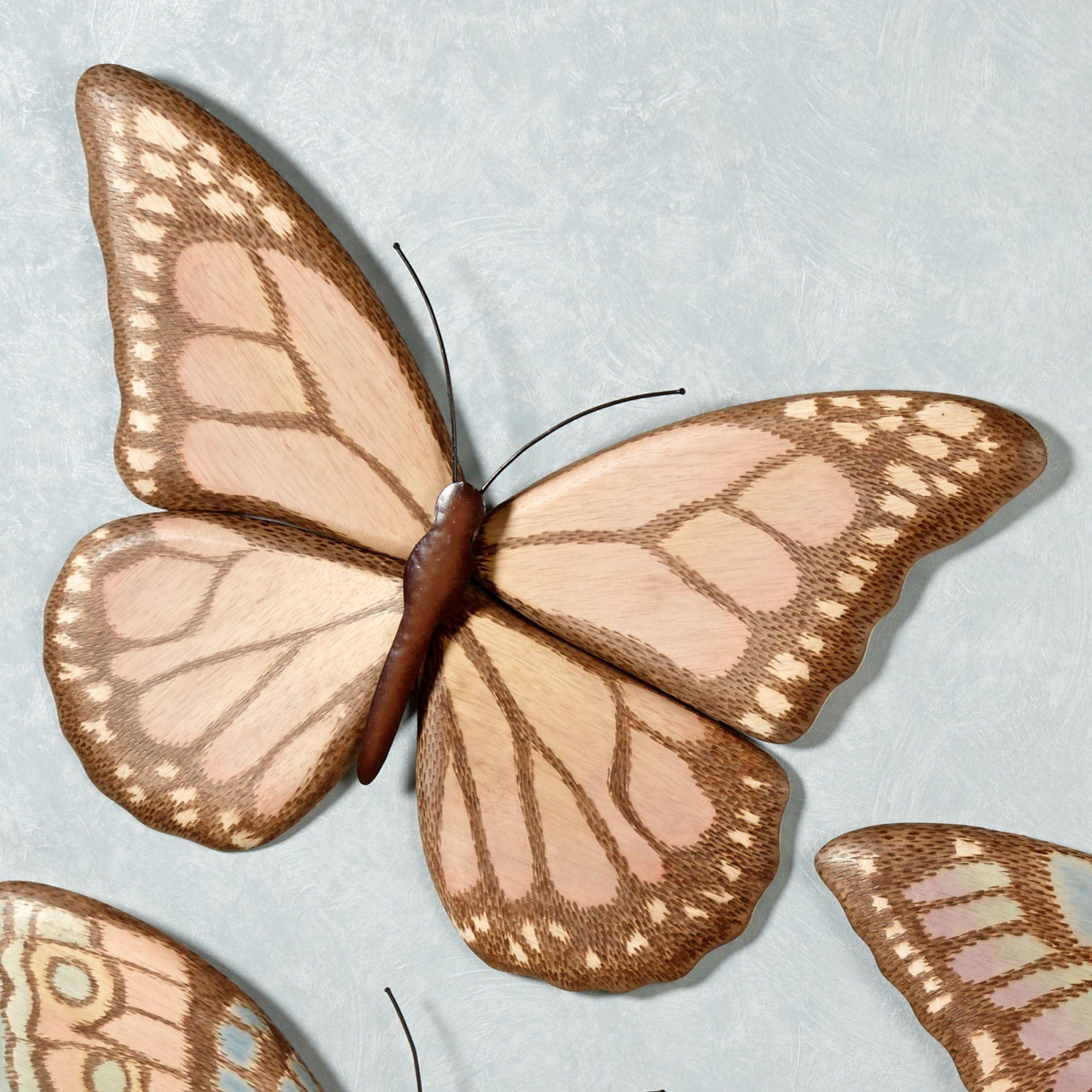 Monarch Butterfly Wall Art Multi Pastel