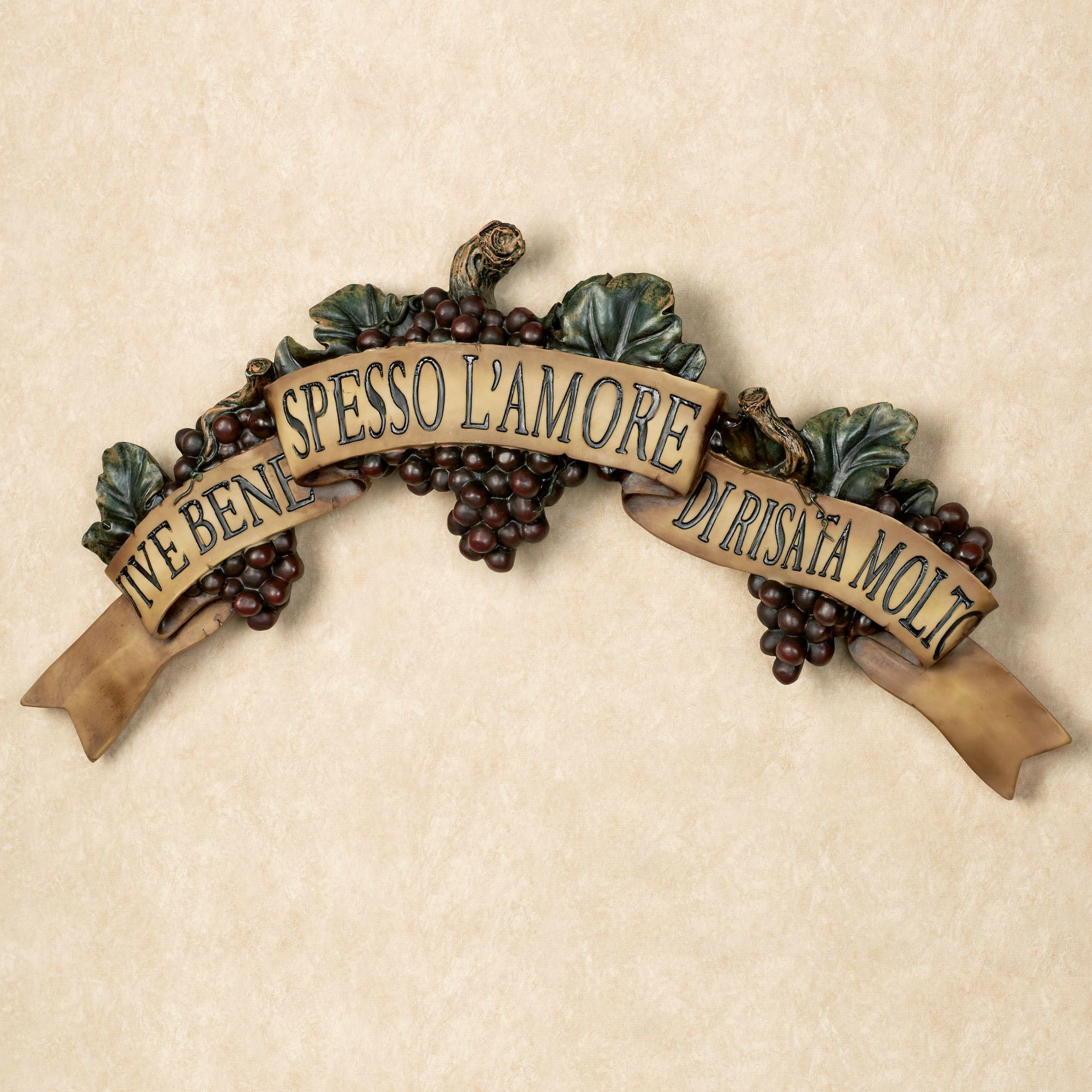 Wall plaques touch of class vive bene grapes wall accent live love laugh buycottarizona