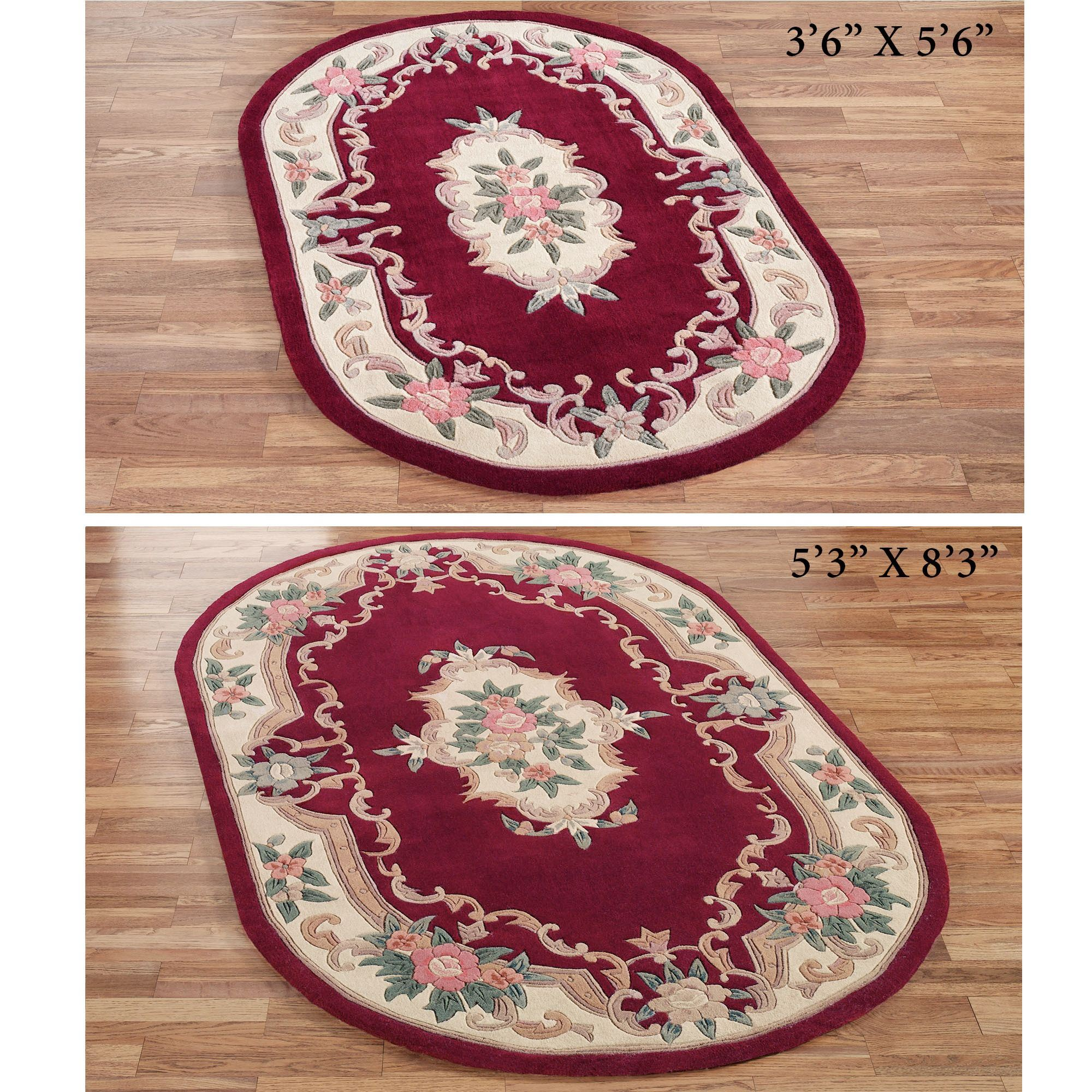 Serena Aubusson Oval Rugs