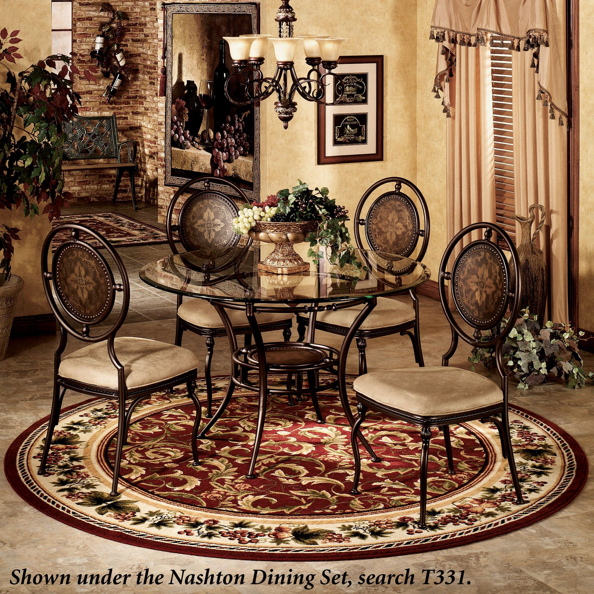 Kitchen Table On Rug: Inspiration Grapes And Acanthus Area Rugs