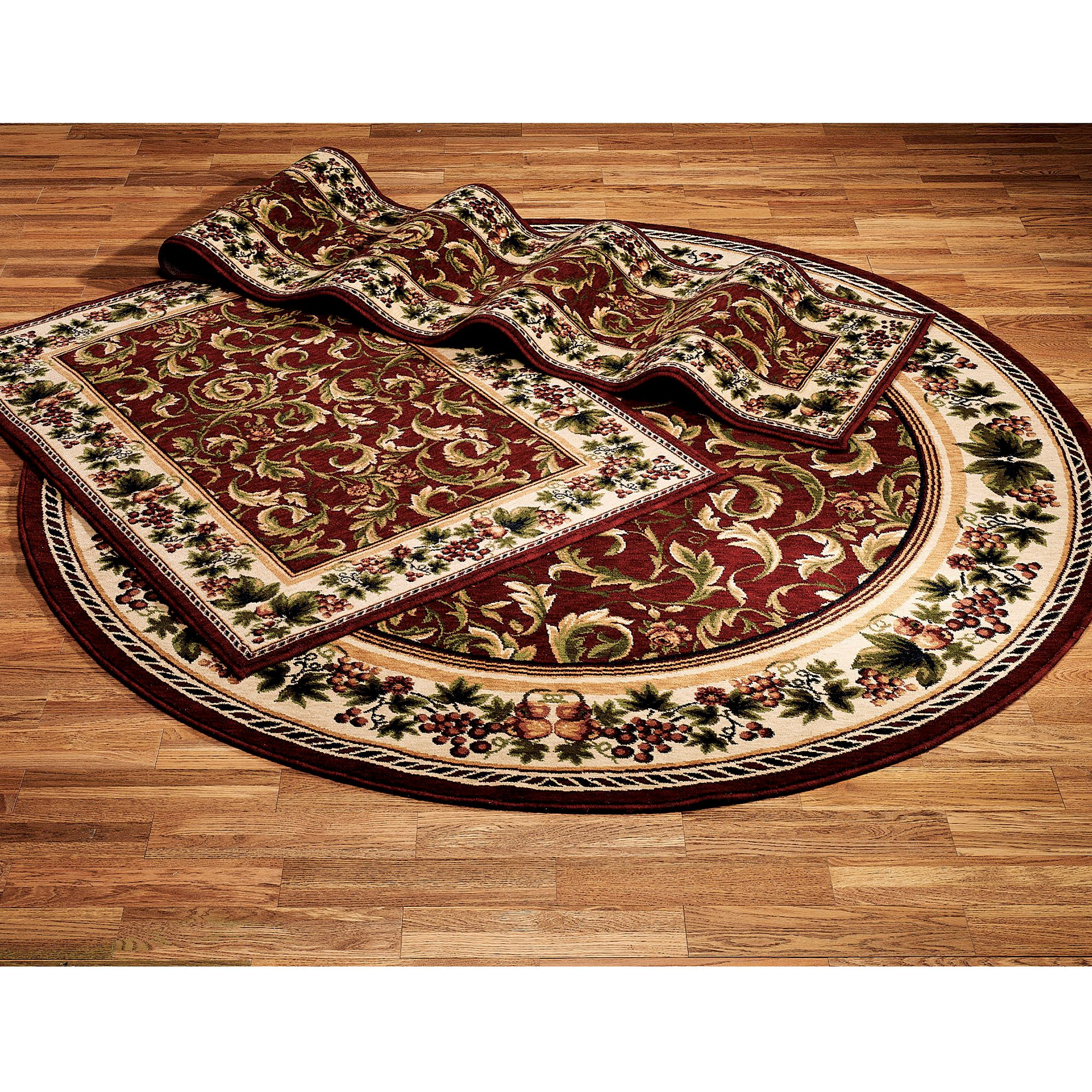 inspiration grapes and acanthus round area rugs Area Rug Inspiration