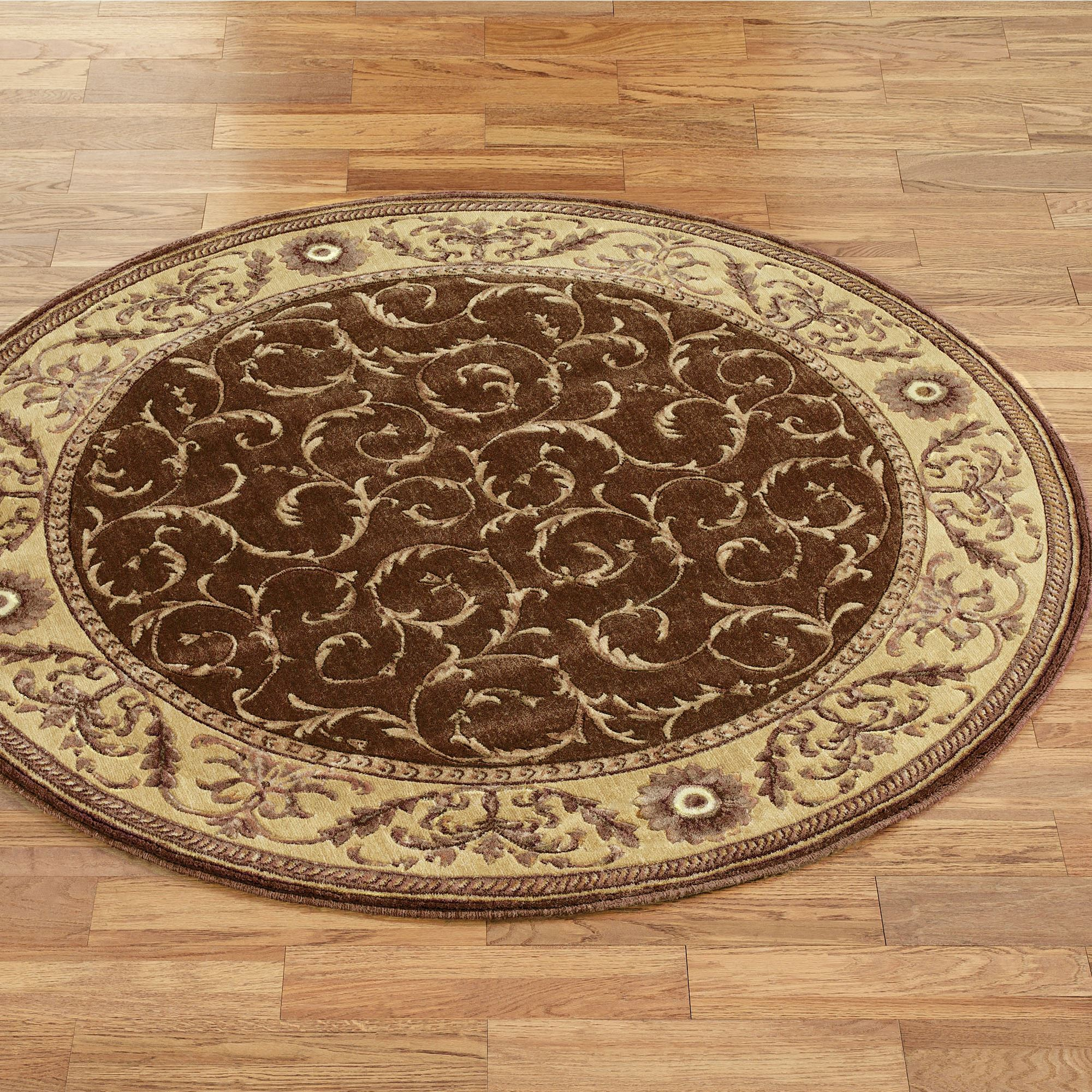 Somerset Scroll Round Rugs