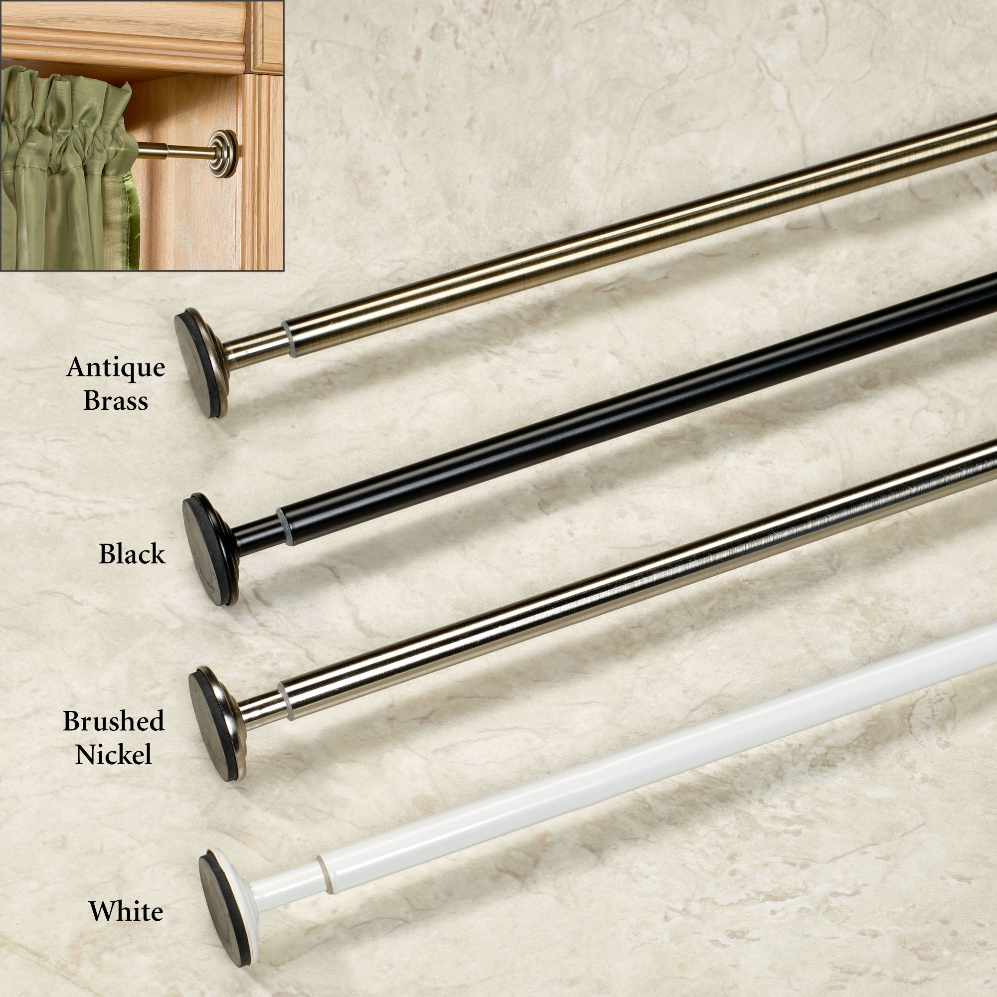Spring Mount Mini Tension Curtain Rod - 15\