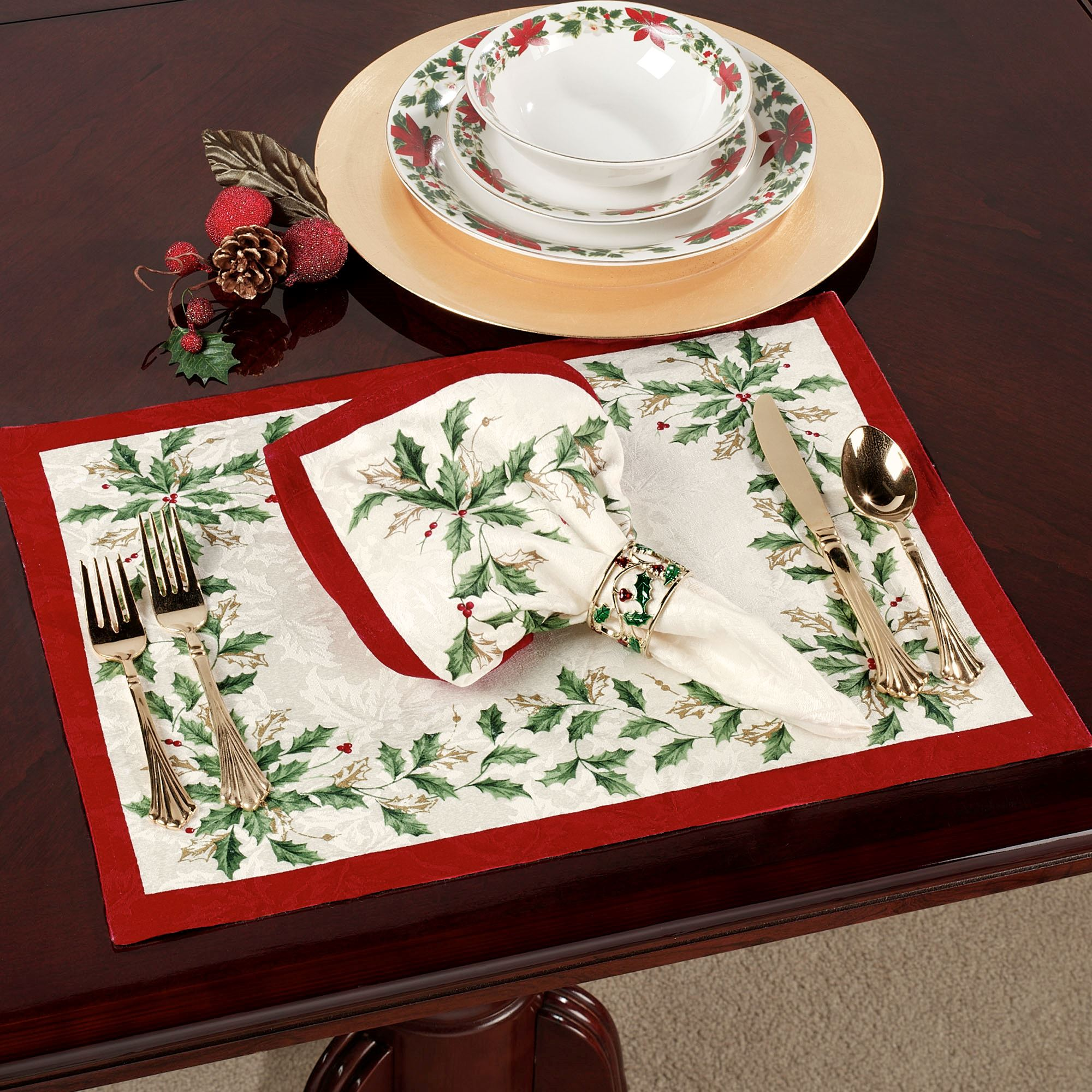 Attractive Lenox Holiday Oblong Tablecloth