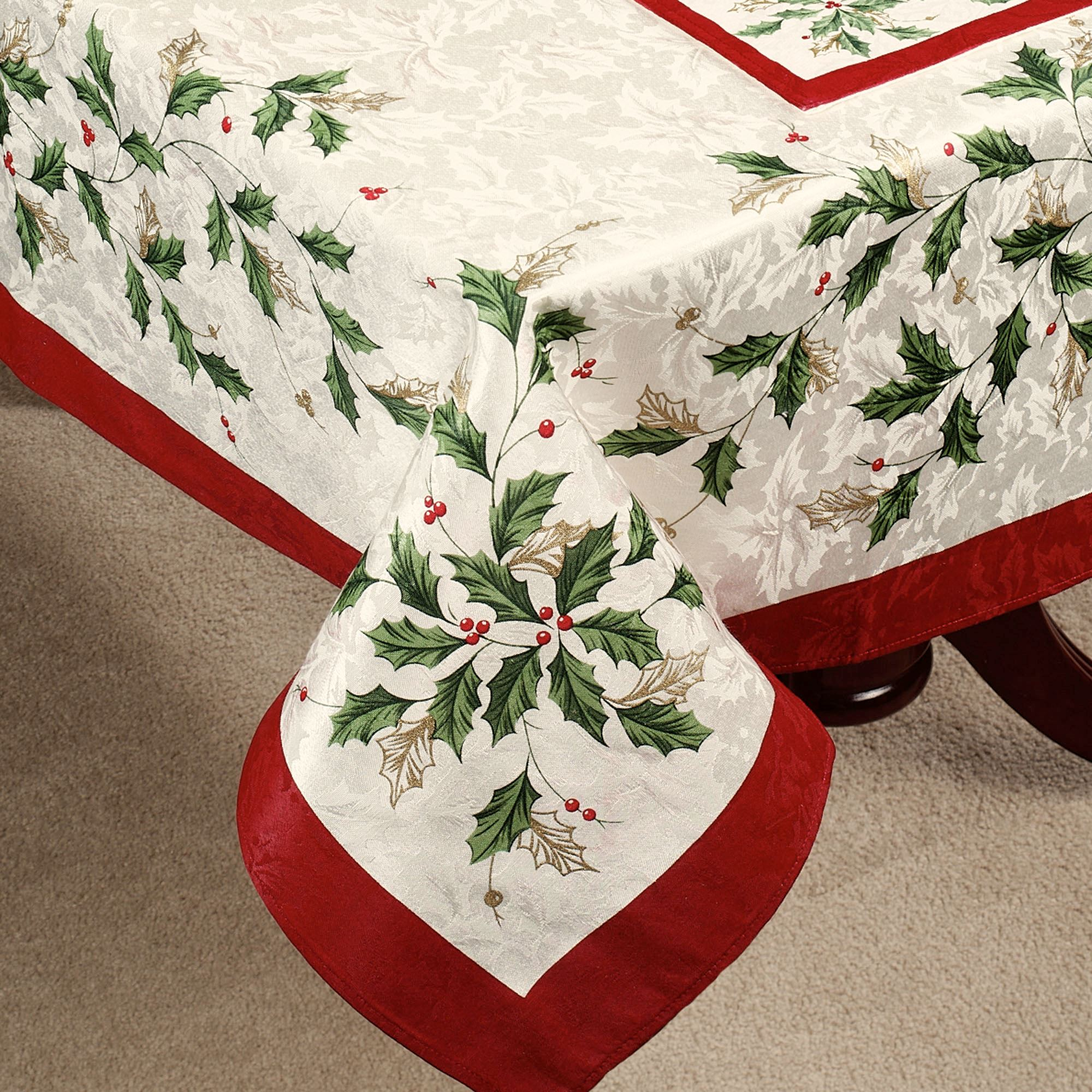 lenox holiday oblong tablecloth ivory
