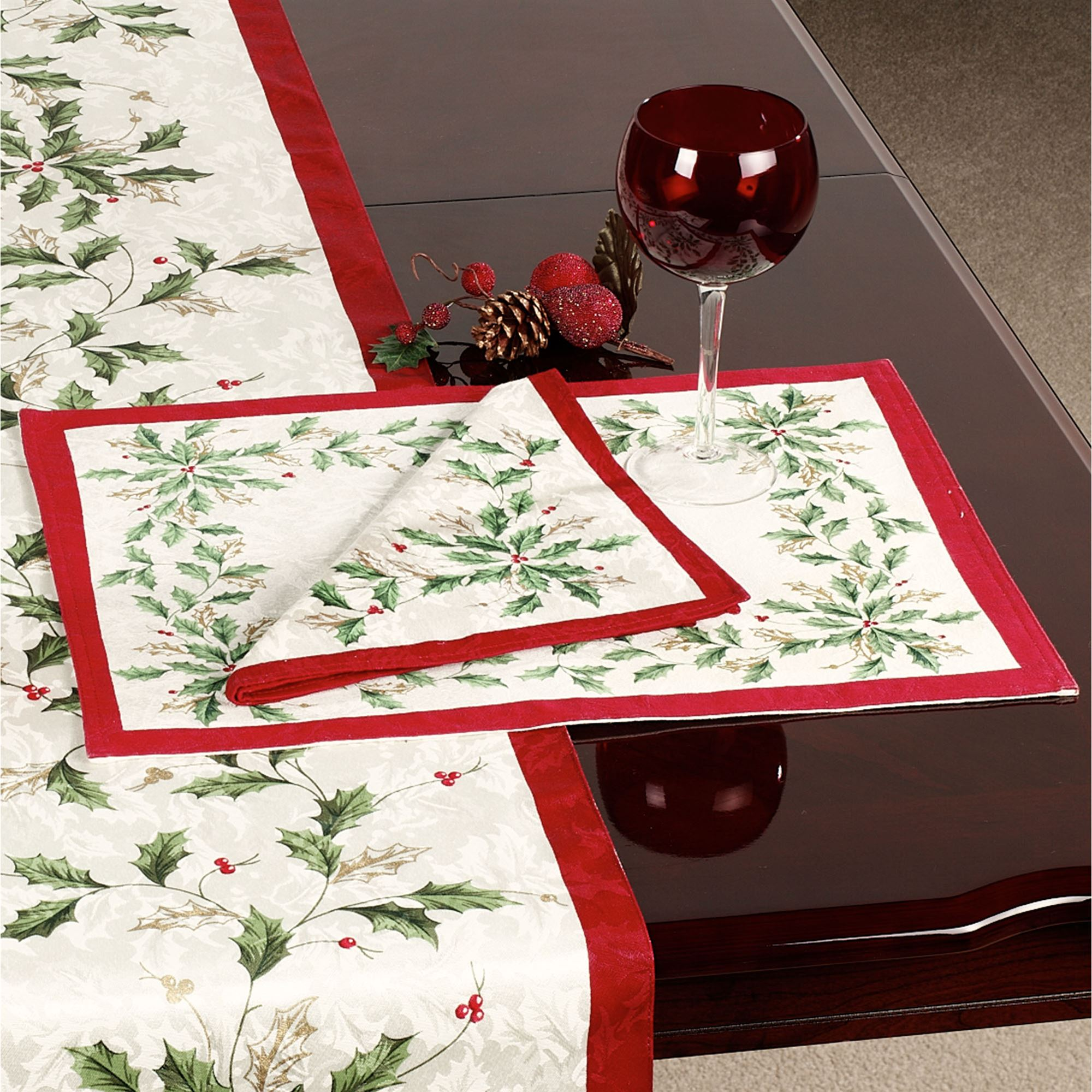Lenox Holiday Table Runner. Touch To Zoom