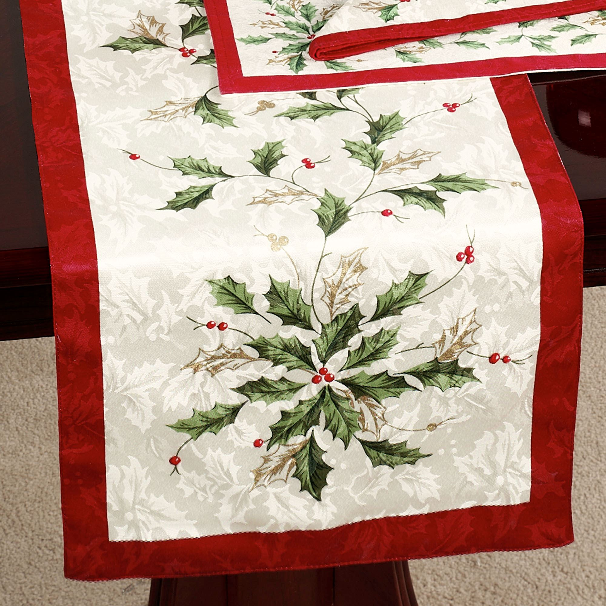 Exceptionnel Lenox Holiday Table Runner Ivory 14 X 90