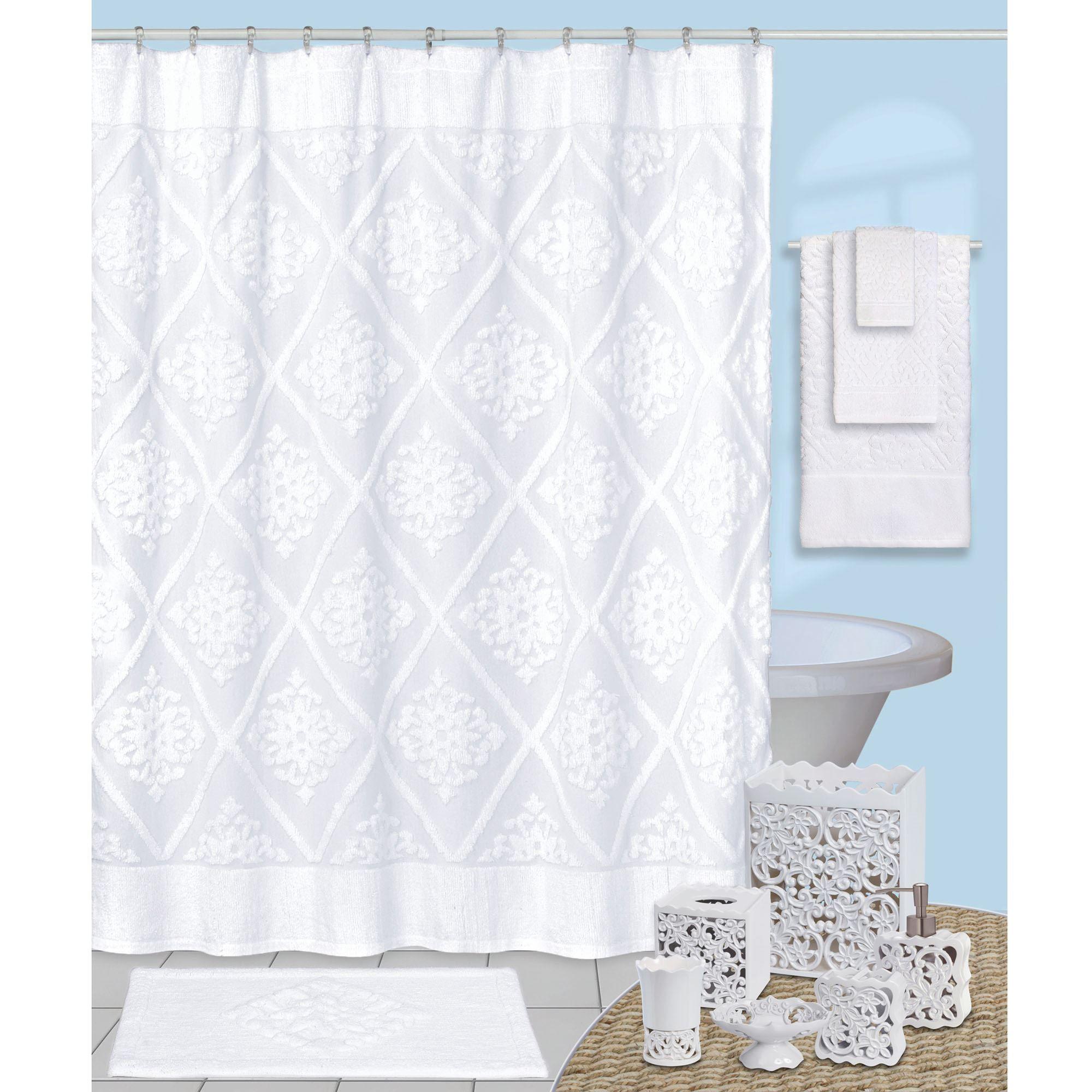 Belle Shower Curtain White 72 X 72