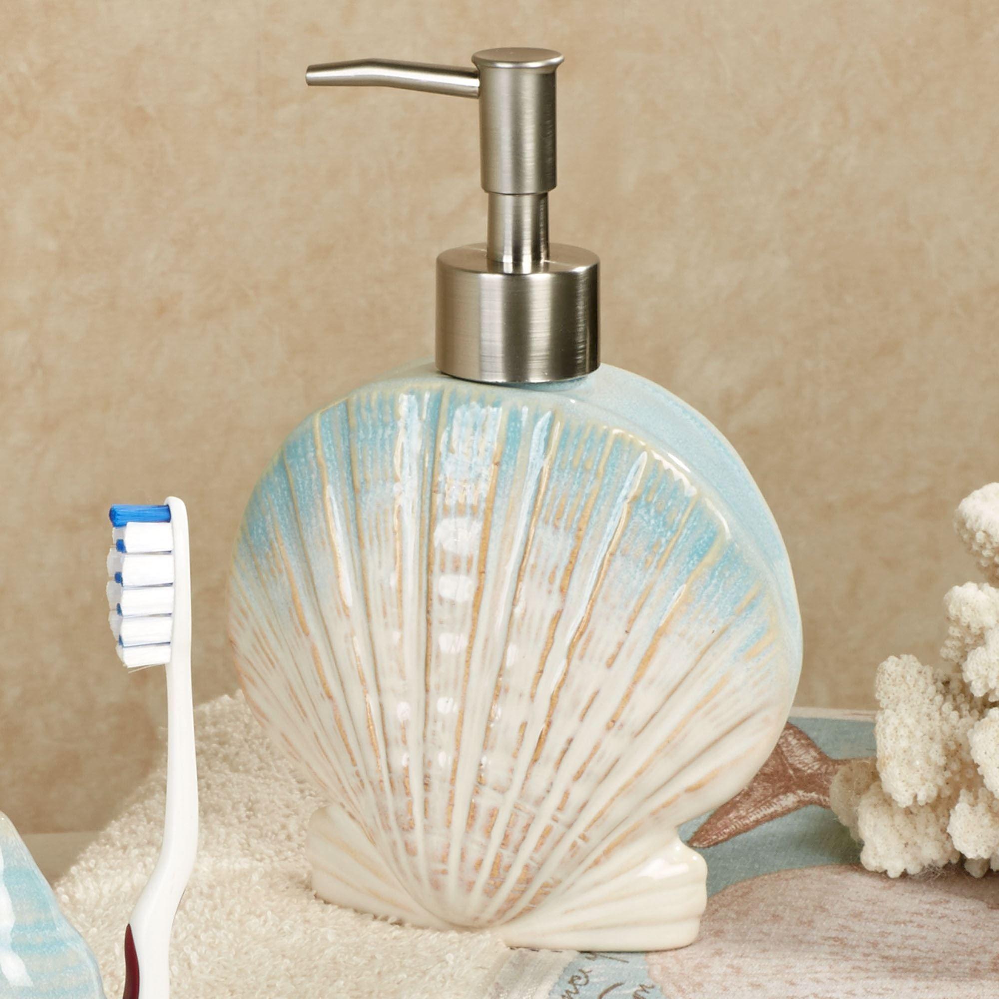 Coastal moonlight bath accessories - Bathroom soap and lotion dispenser set ...