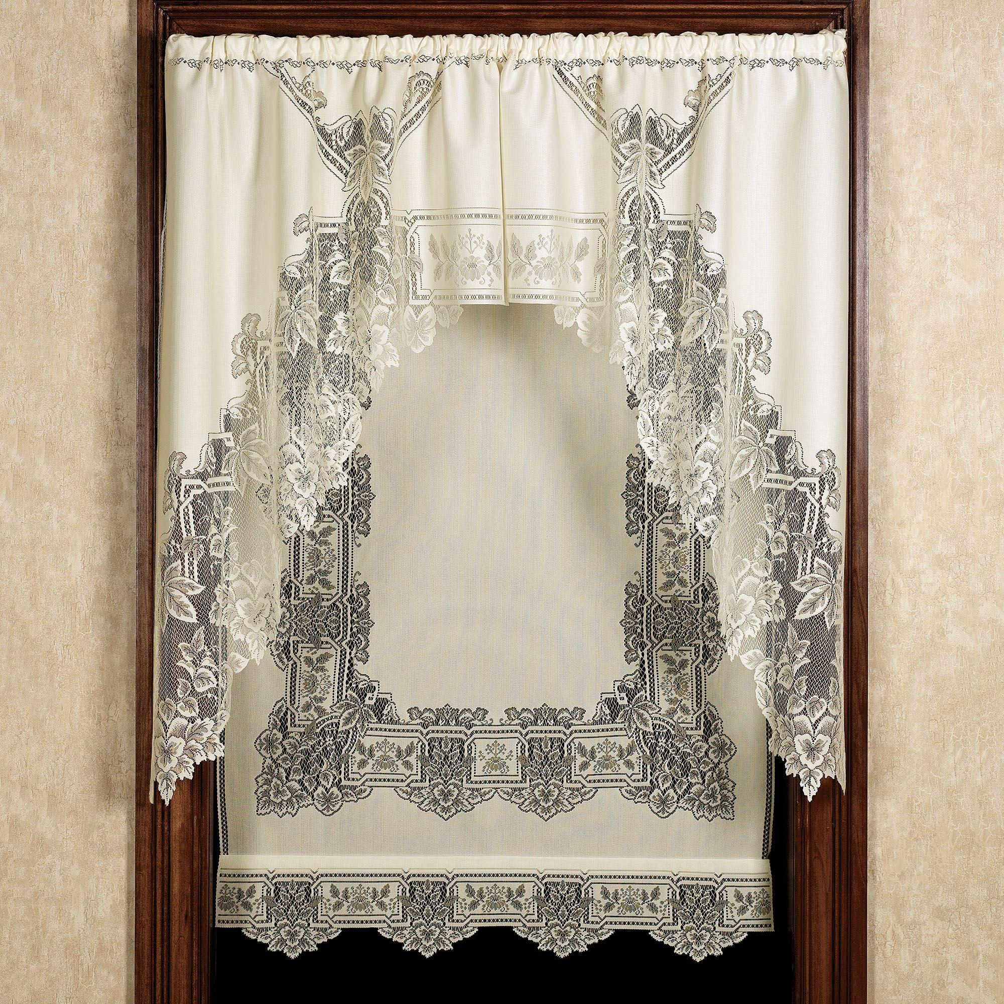 Heirloom Lace Panels Window Treatment