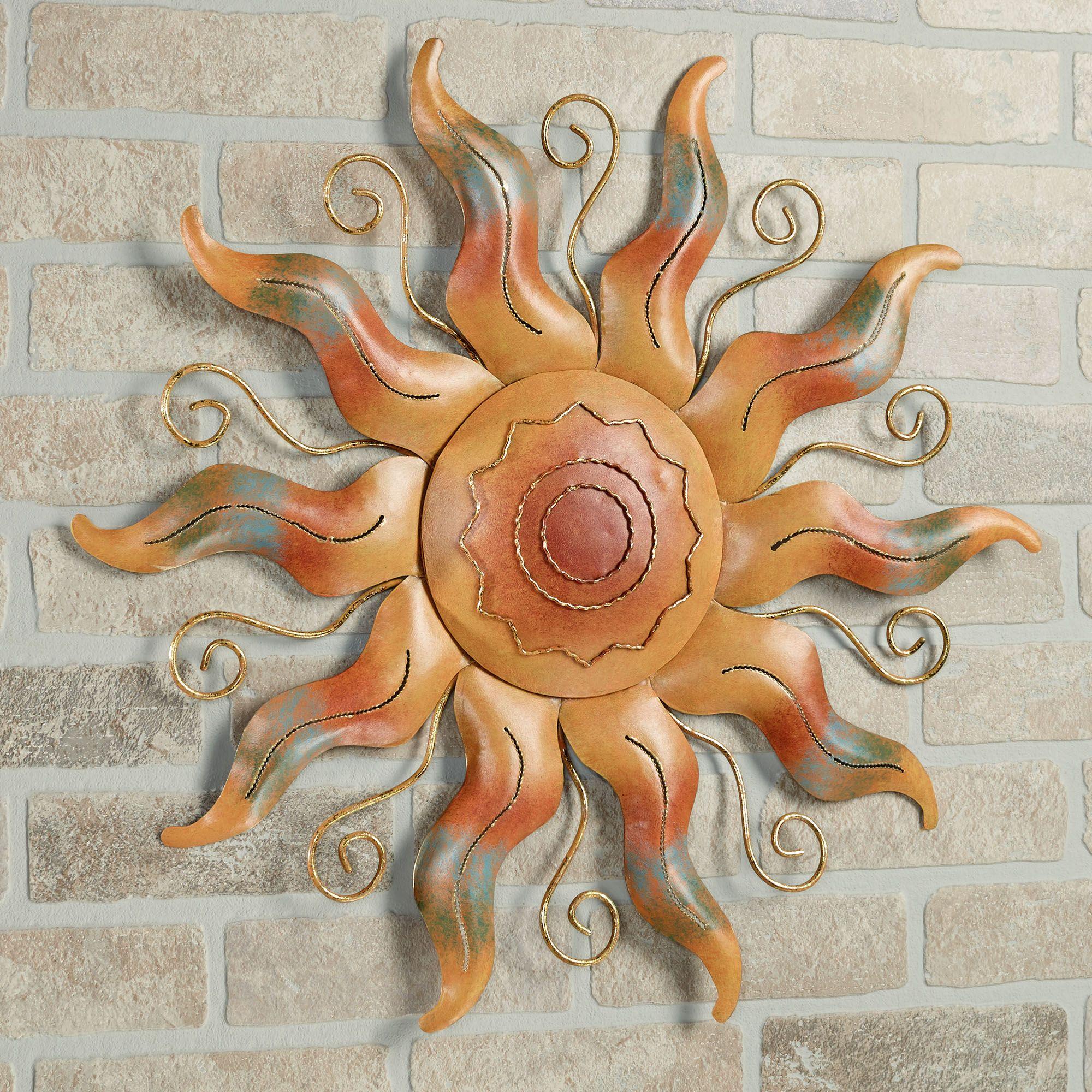 Fiesta Sun Indoor Outdoor Metal Wall Art