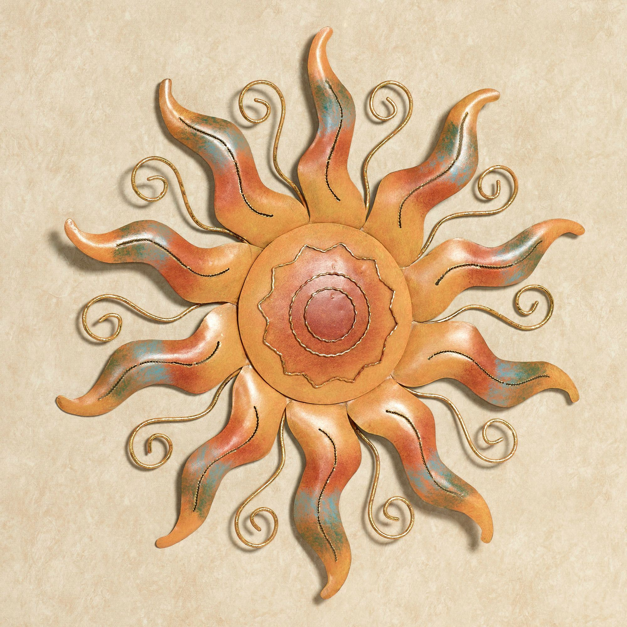 Fiesta Sun Indoor Outdoor Metal Wall Art