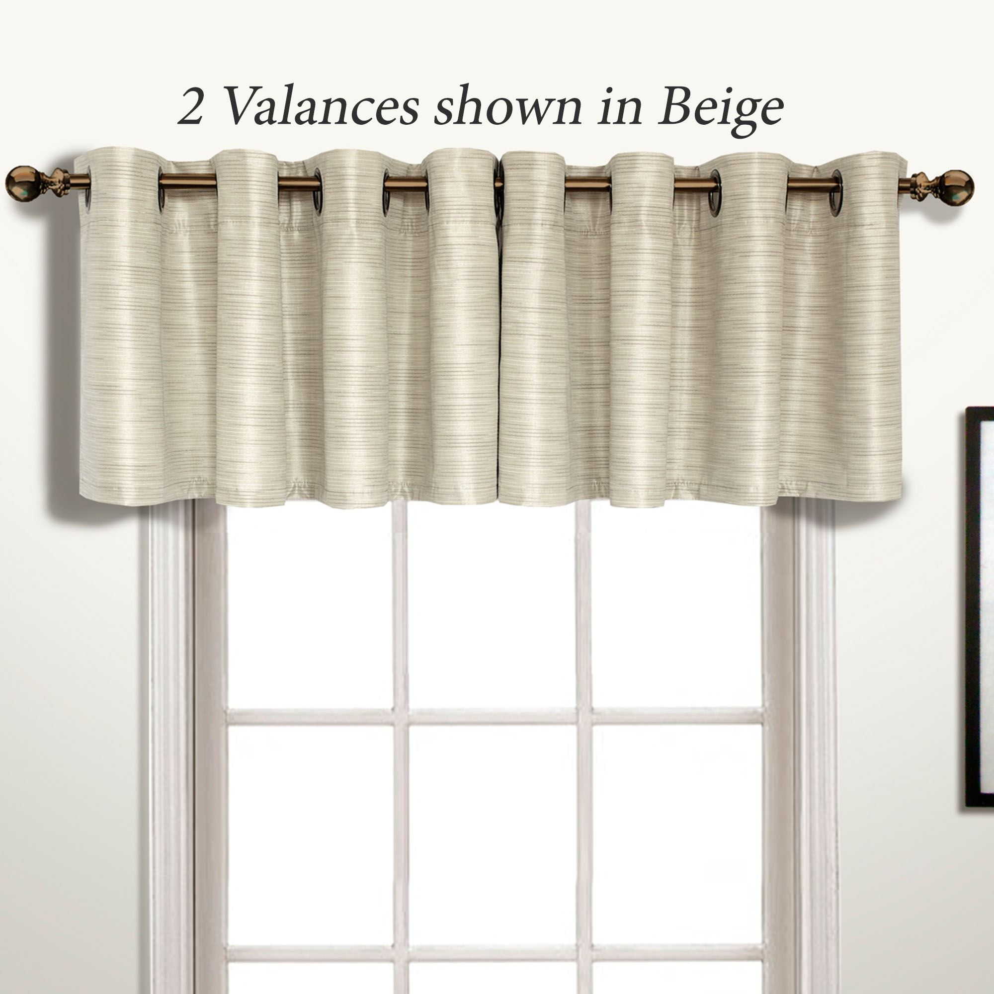 valance chesapeake curtains fruit kitchen set tier grommet and