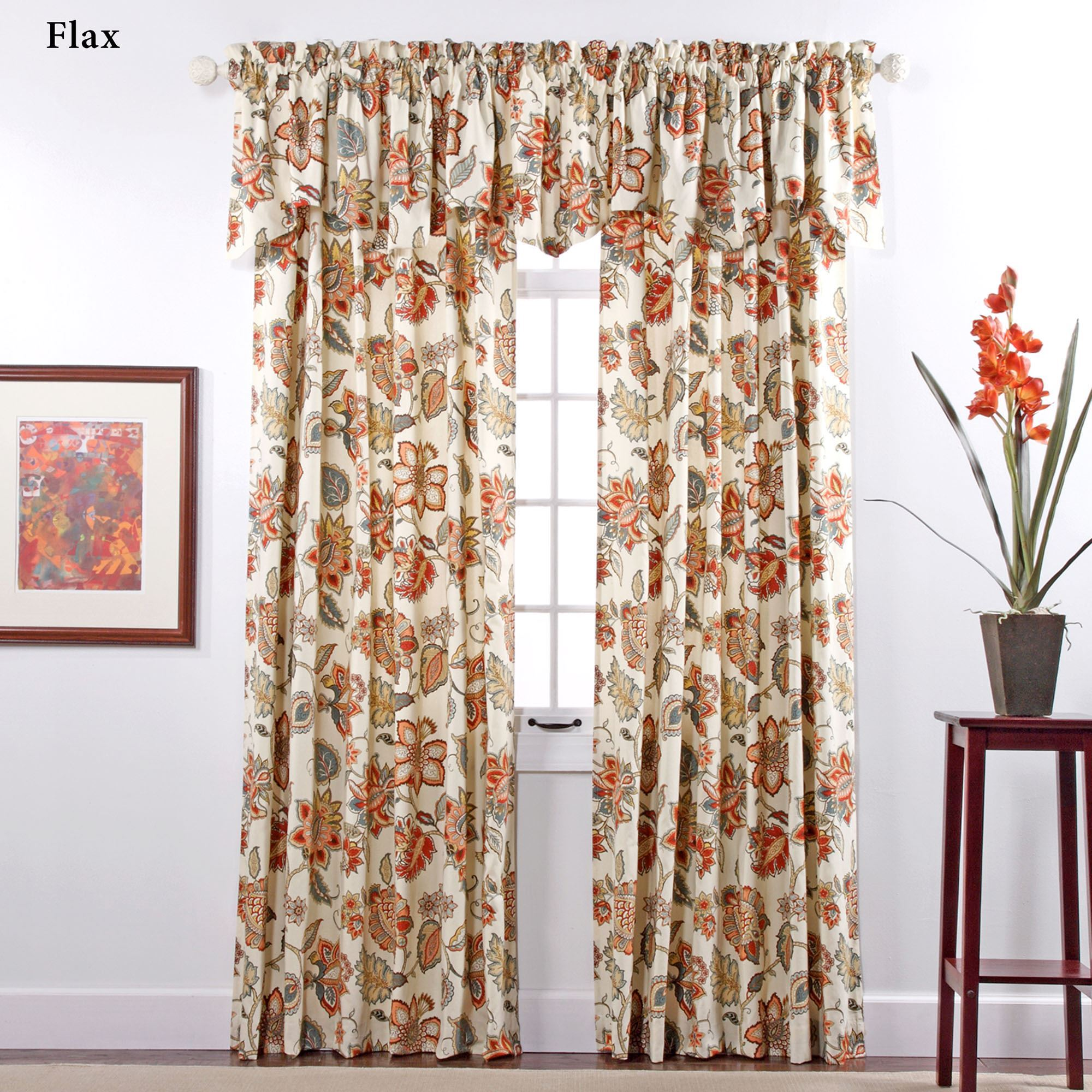 Celine Jacobean Floral Window Treatment