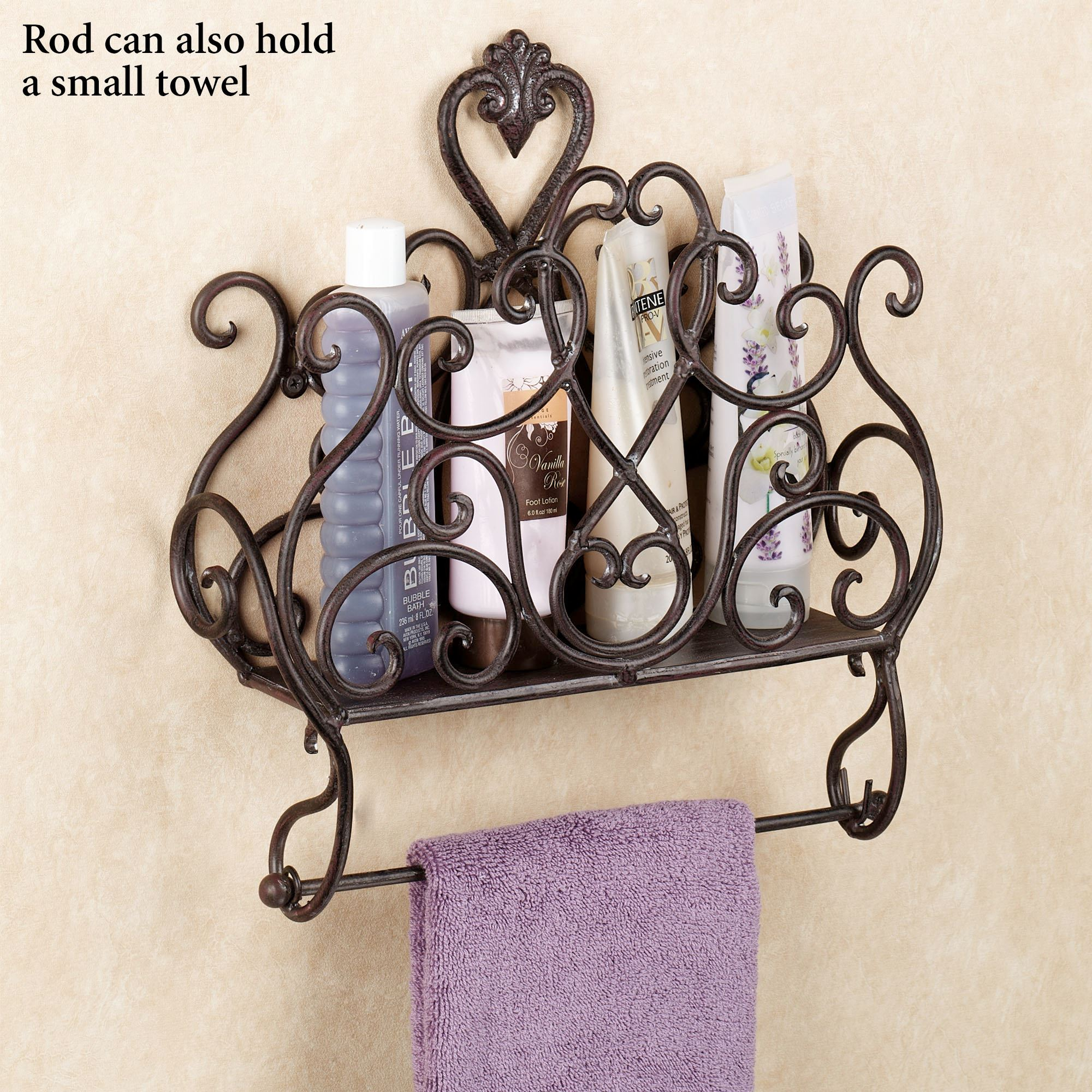 Aldabella wall magazine rack with toilet paper holder - Bathroom towel and toilet paper holders ...