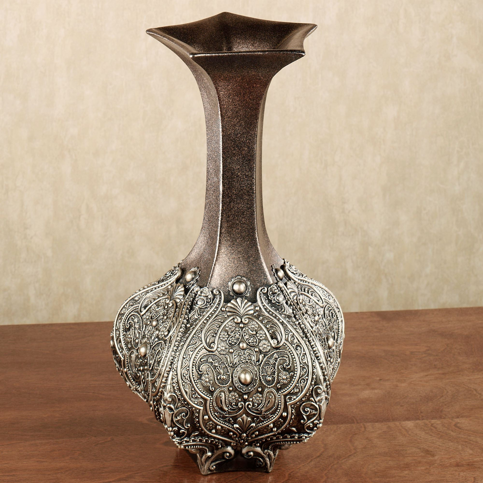decorative inch mache bulk vases aluminum wholesale papier vase in handmade