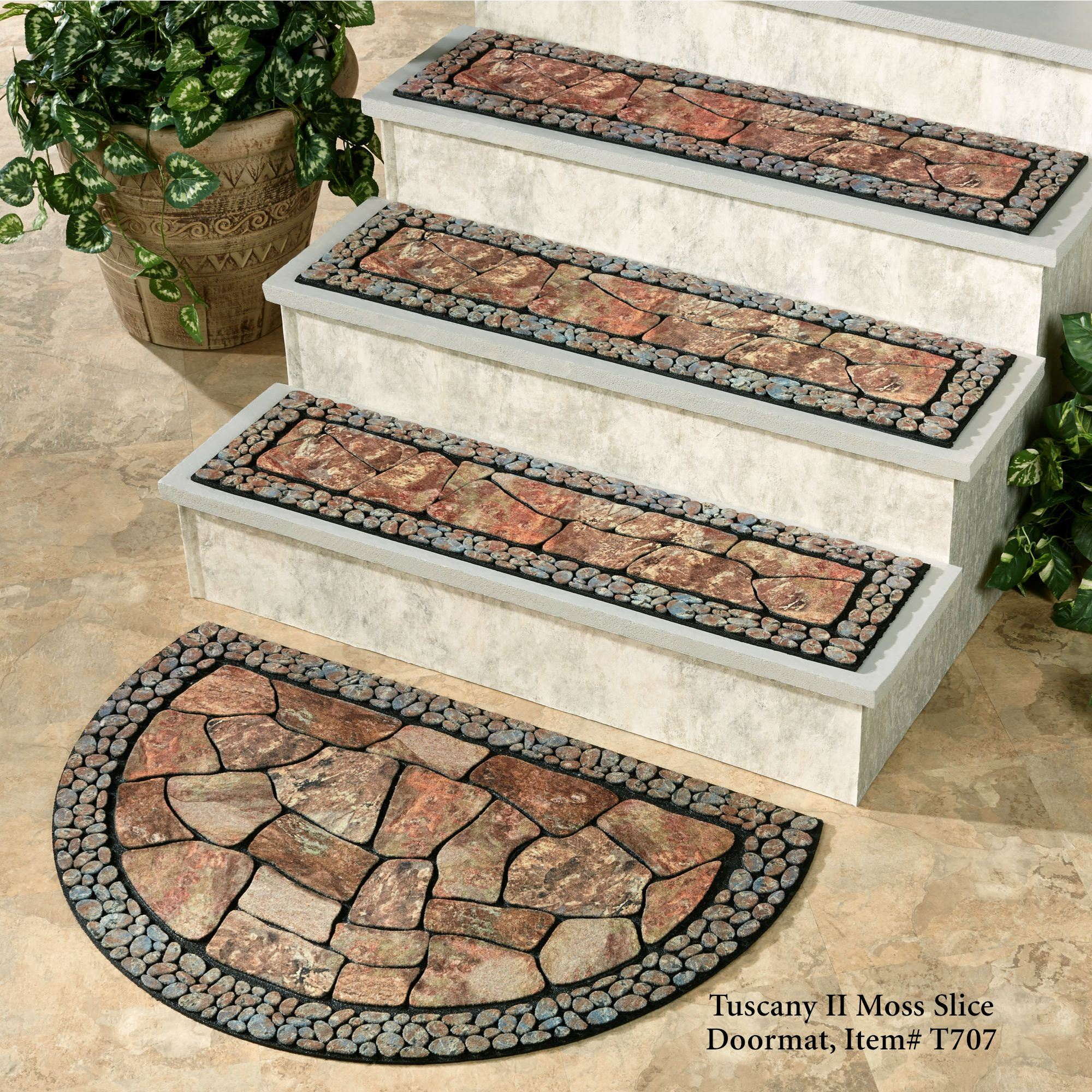 Lovely Tuscany II Stair Treads Moss 35 X 9