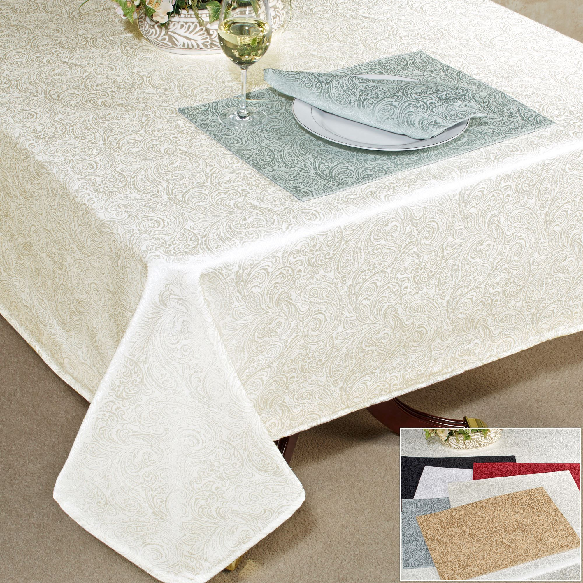Overview. The Stylish Versatility And Exquisite Design Of The Chelsea  Paisley Table Linens ...