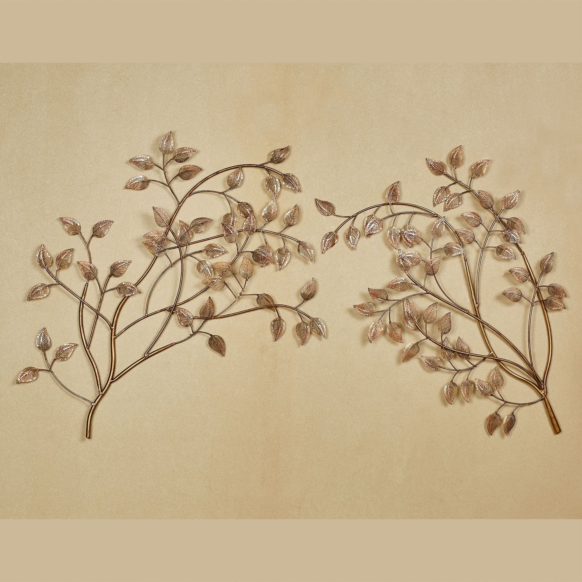 Eden Leafy Branch Metal Wall Art Set