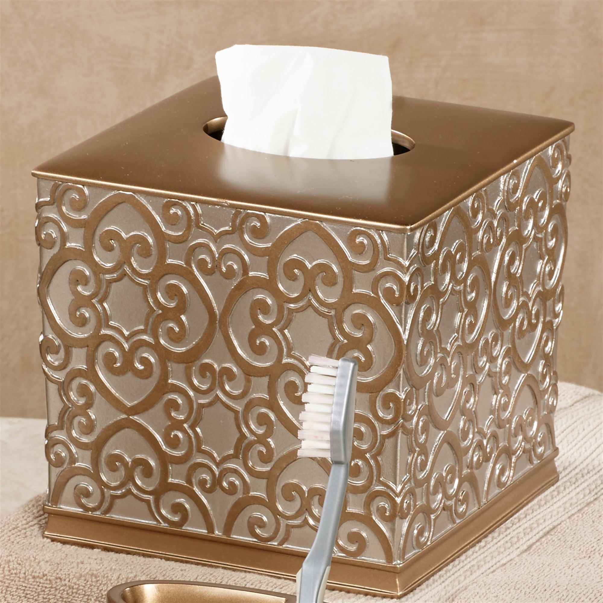 Allure Silver And Gold Bath Accessories